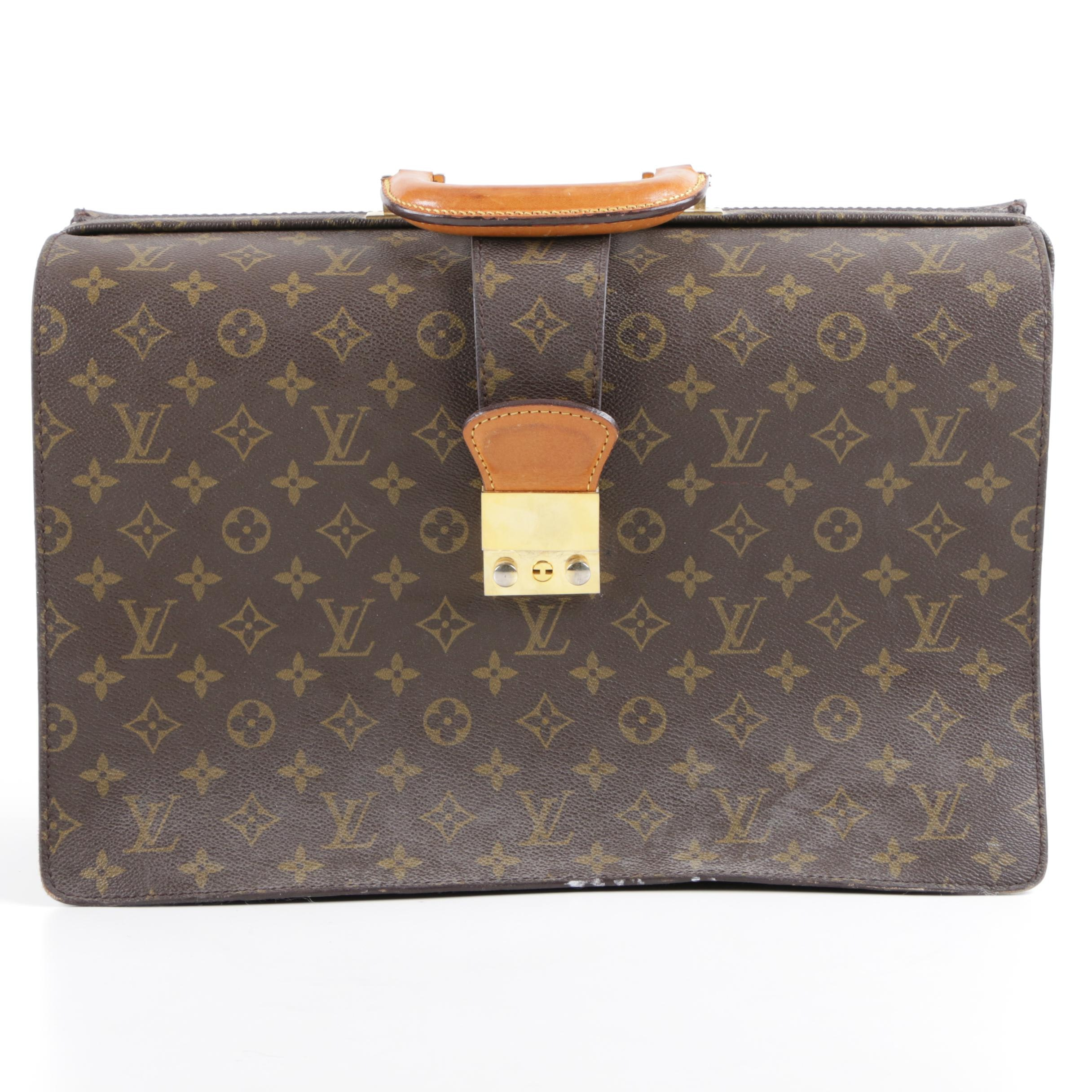 Louis Vuitton Monogram Canvas Serviette Fermoir Briefcase