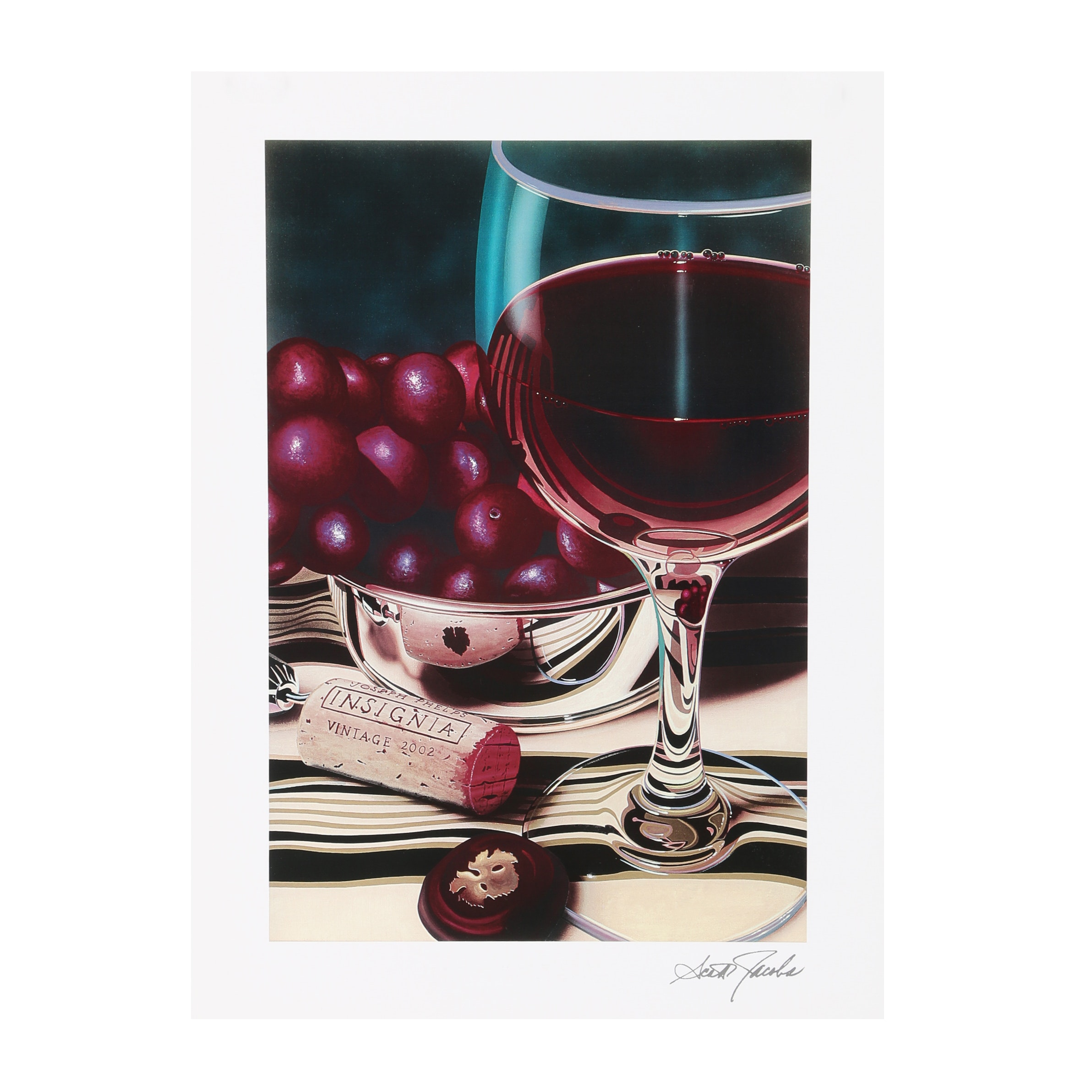 "Seriolithograph After Scott Jacobs ""Grape Perfection"""