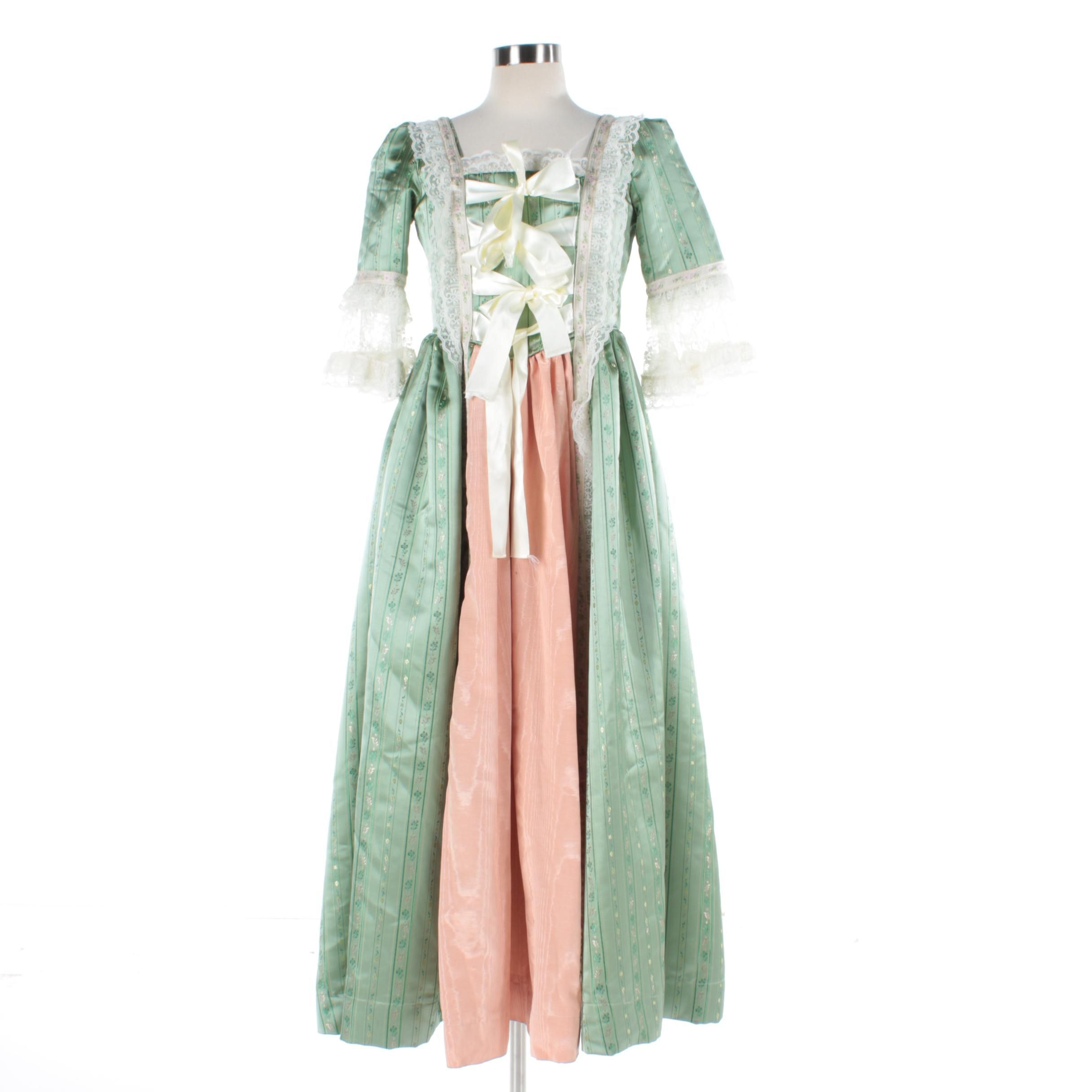 Reproduction 18th Century Gown with Lace Accents