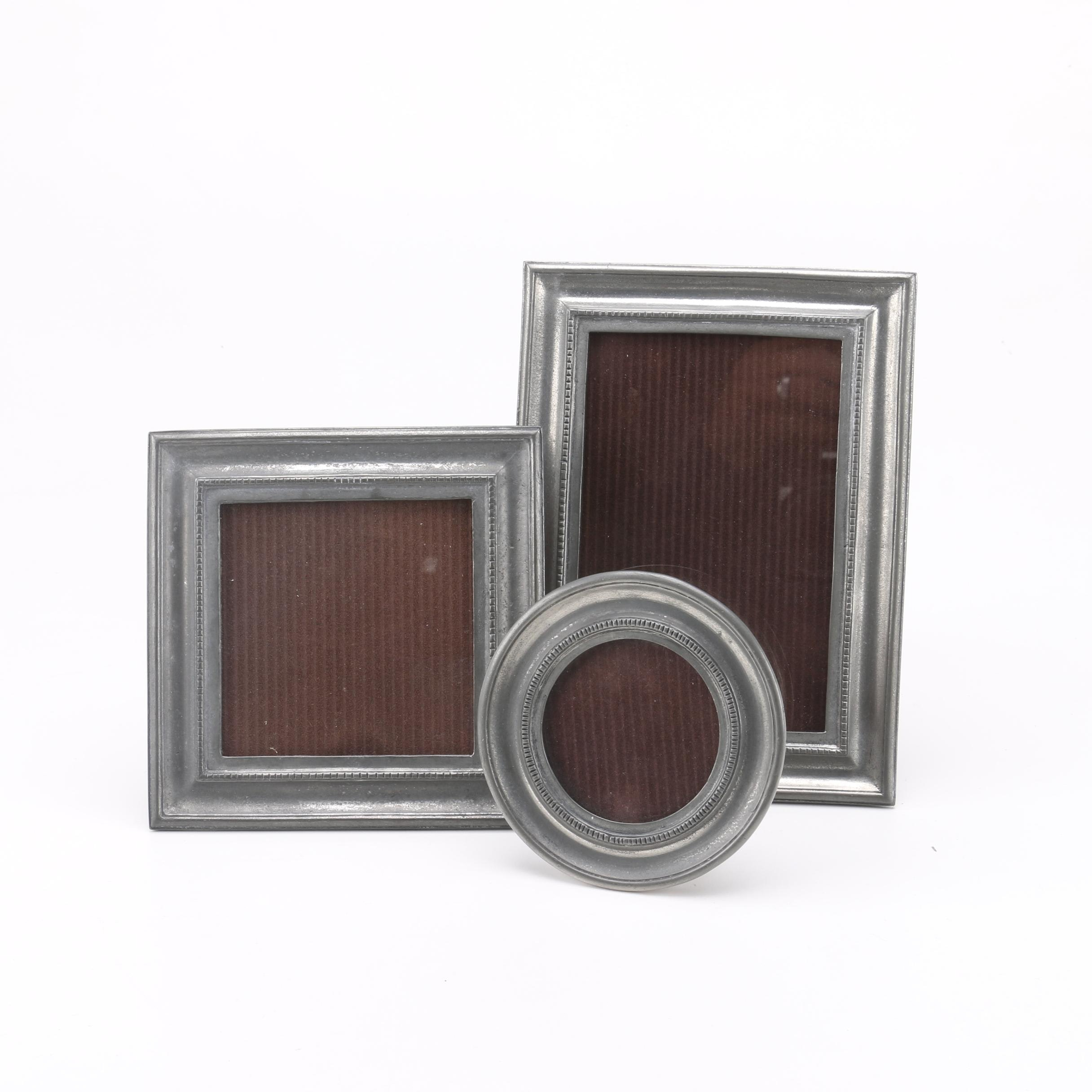 Assorted Pewter Photo Frames
