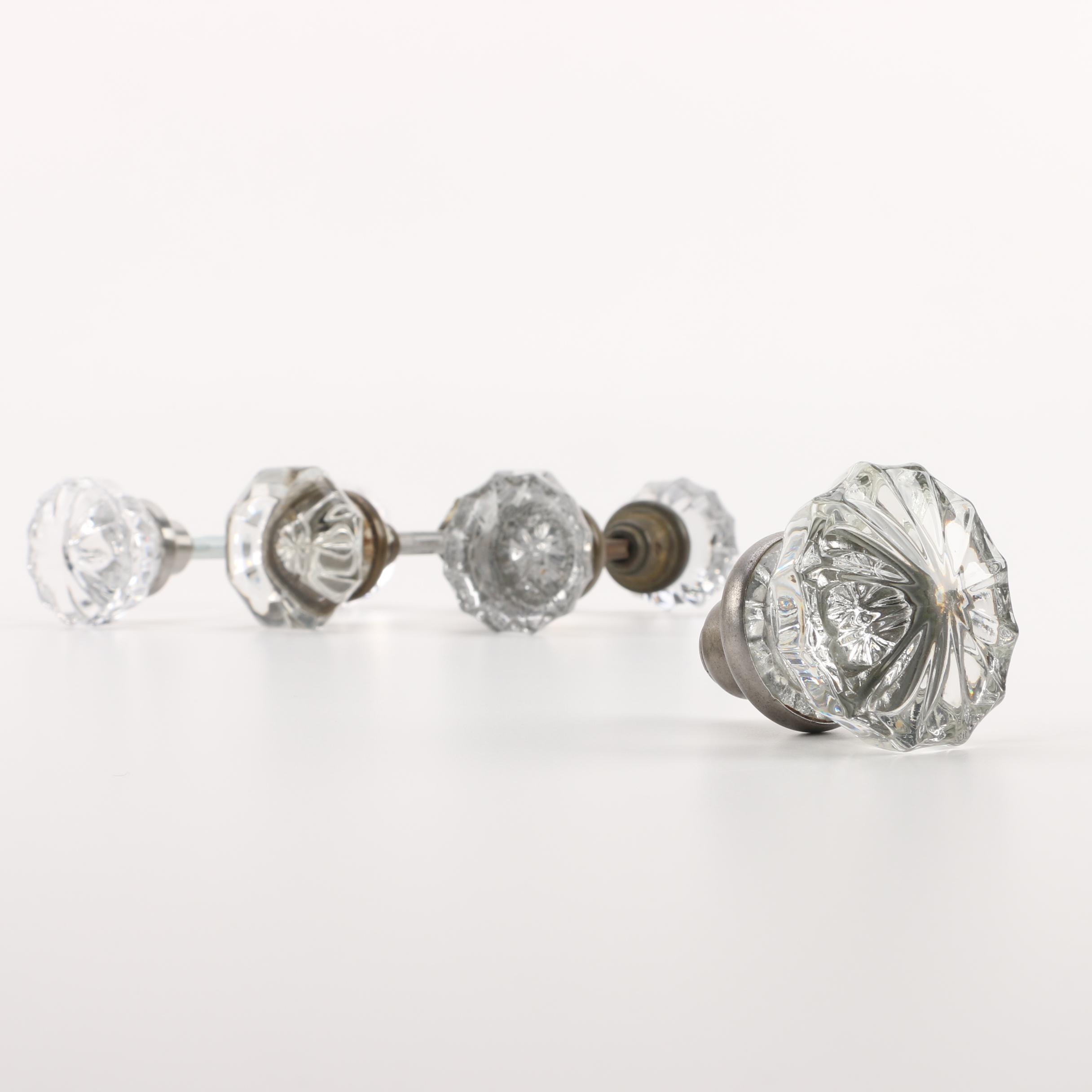 Jewel Cut Style Glass Doorknobs