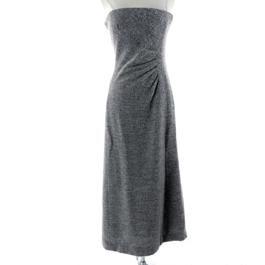 Giorgio Armani Le Collezioni Grey Wool Blend Strapless Dress : EBTH
