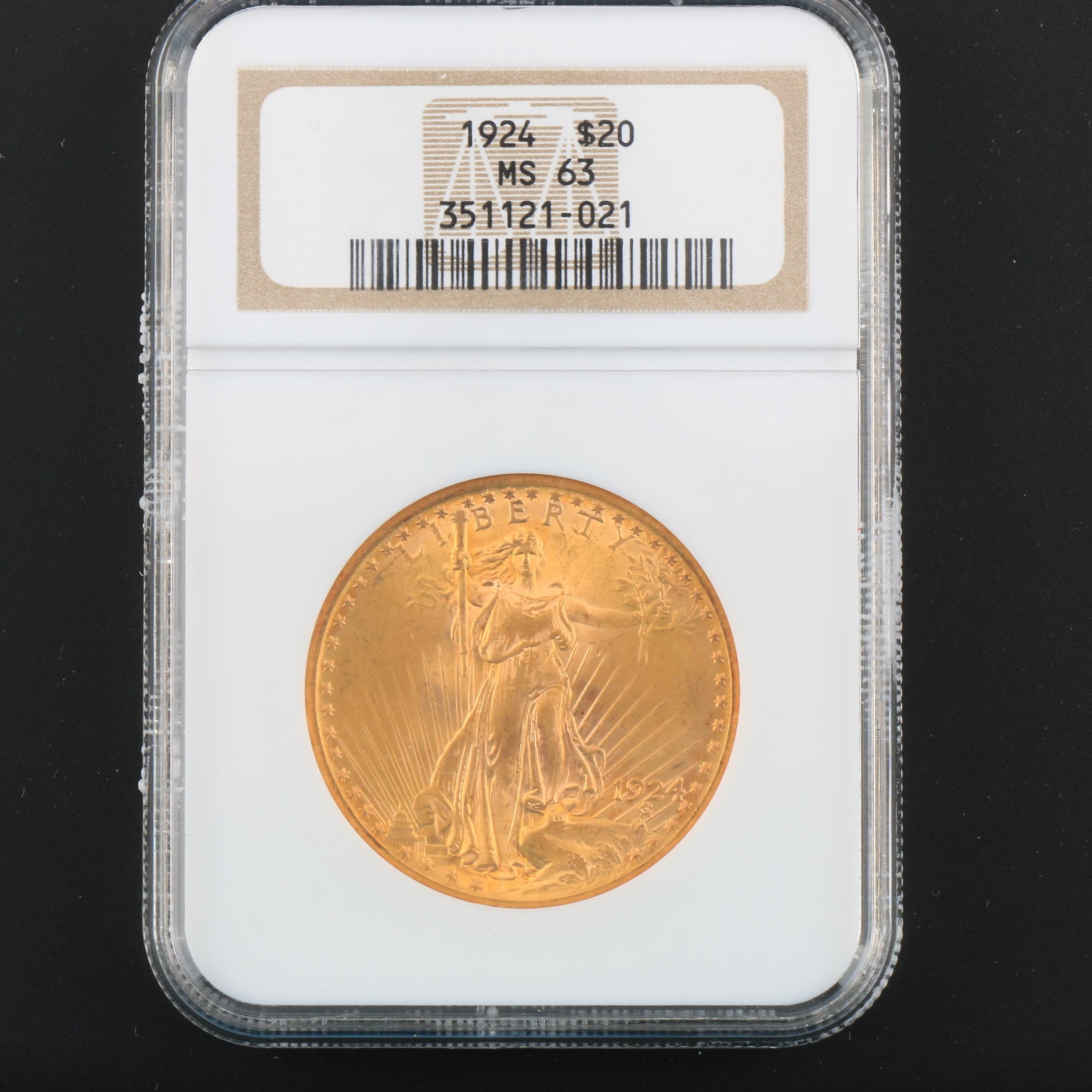 NGC Graded MS63 1924 Saint Gaudens Gold Double Eagle