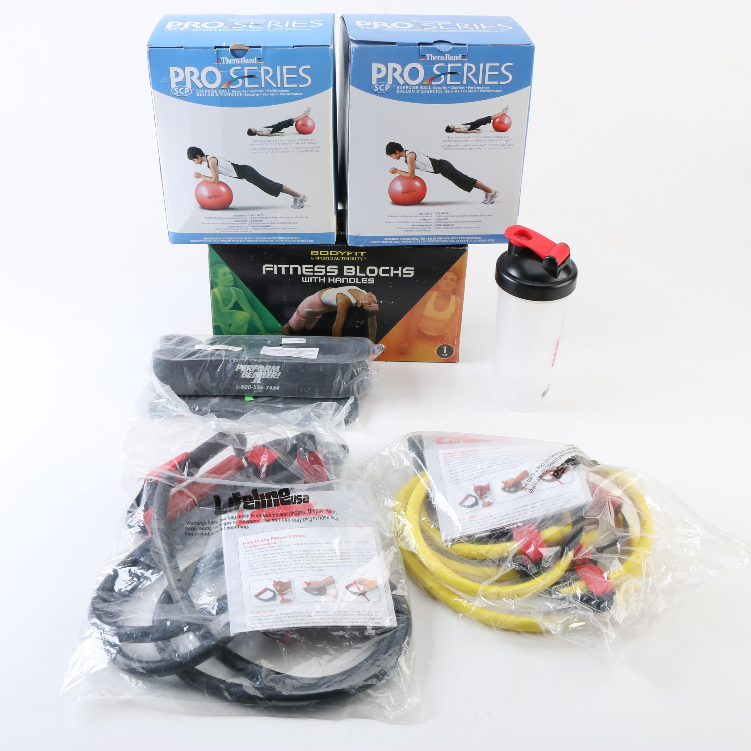 Theraband Pro Series Exercise Balls, Fitness Blocks and Other Fitness Equipment