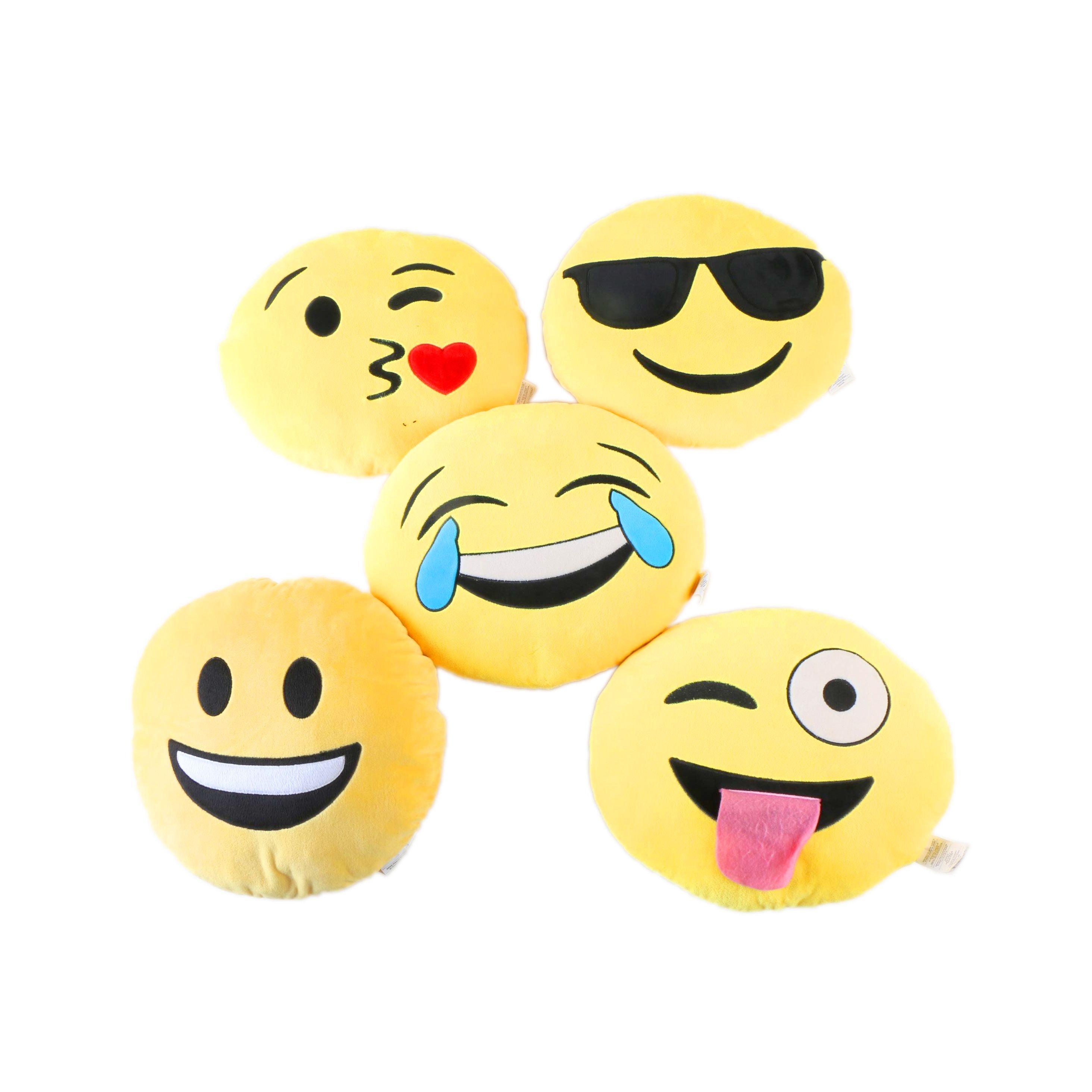Emoji Themed Throw Pillows