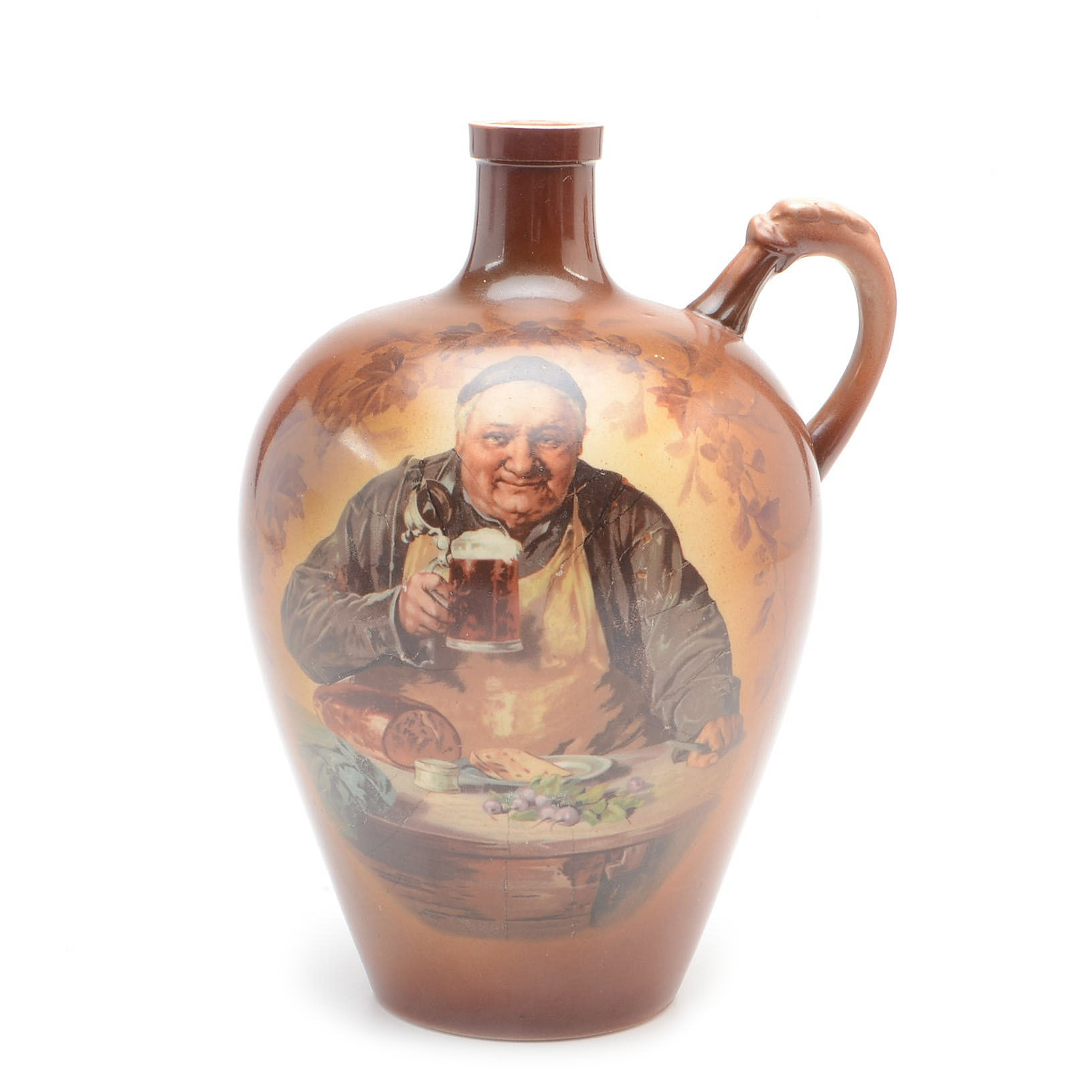 "Knowles Taylor Knowles Decorative ""Friars"" Jug"