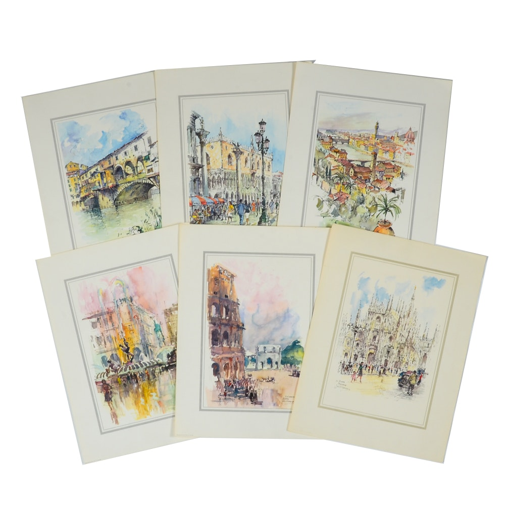Collection of Jan Korthals Offset Lithograph Prints