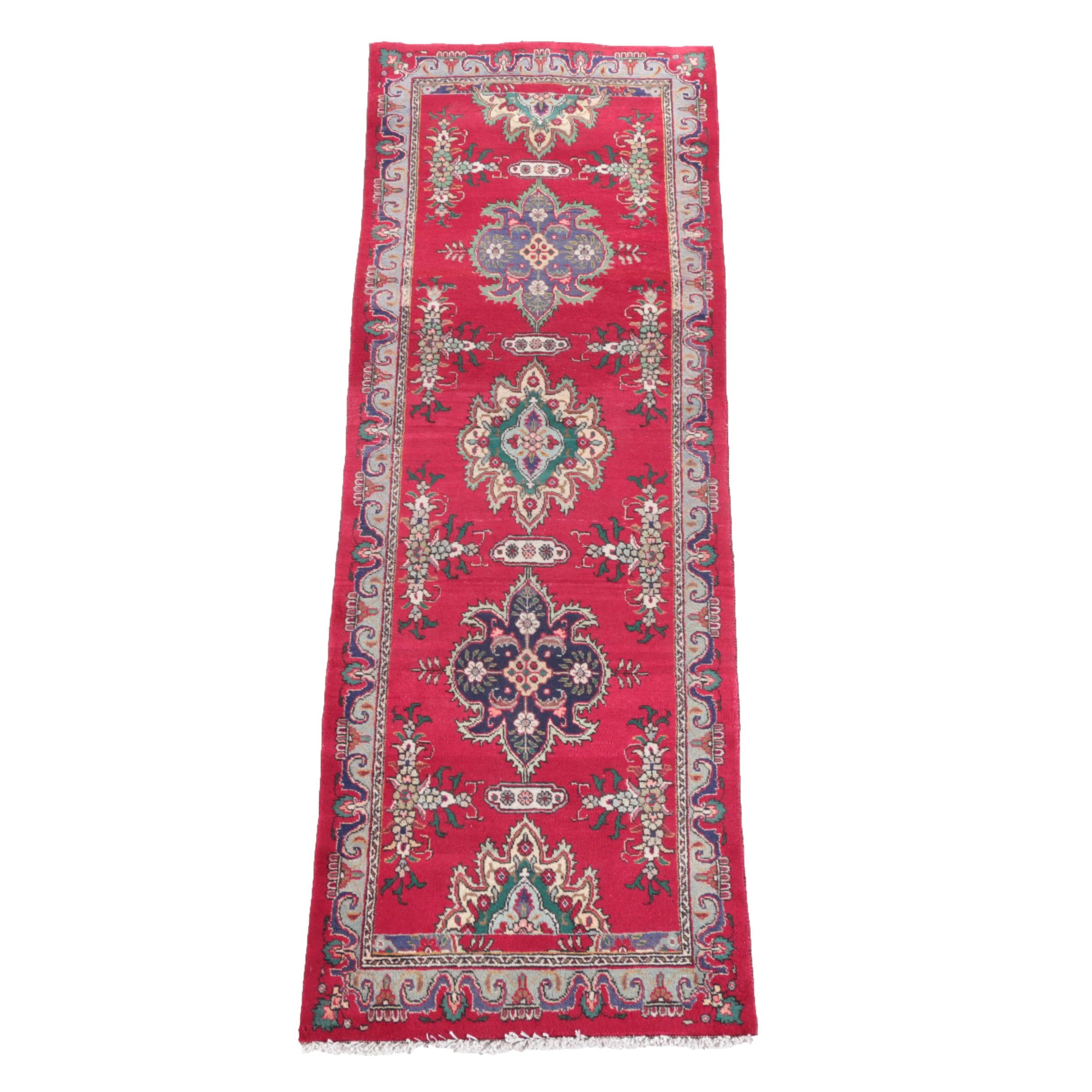 Hand-Knotted Persian Wool Long Rug