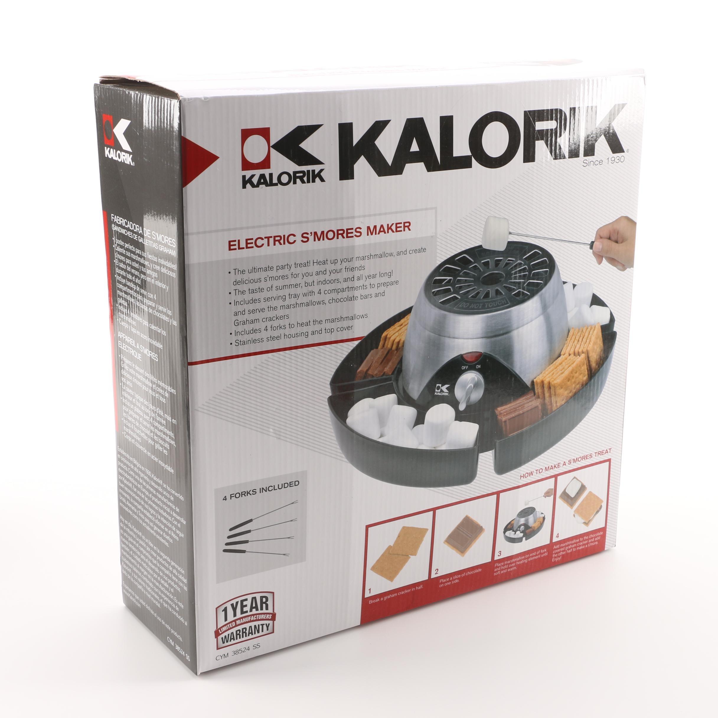 Kalorik Electric S'mores Maker CYM 38524 SS