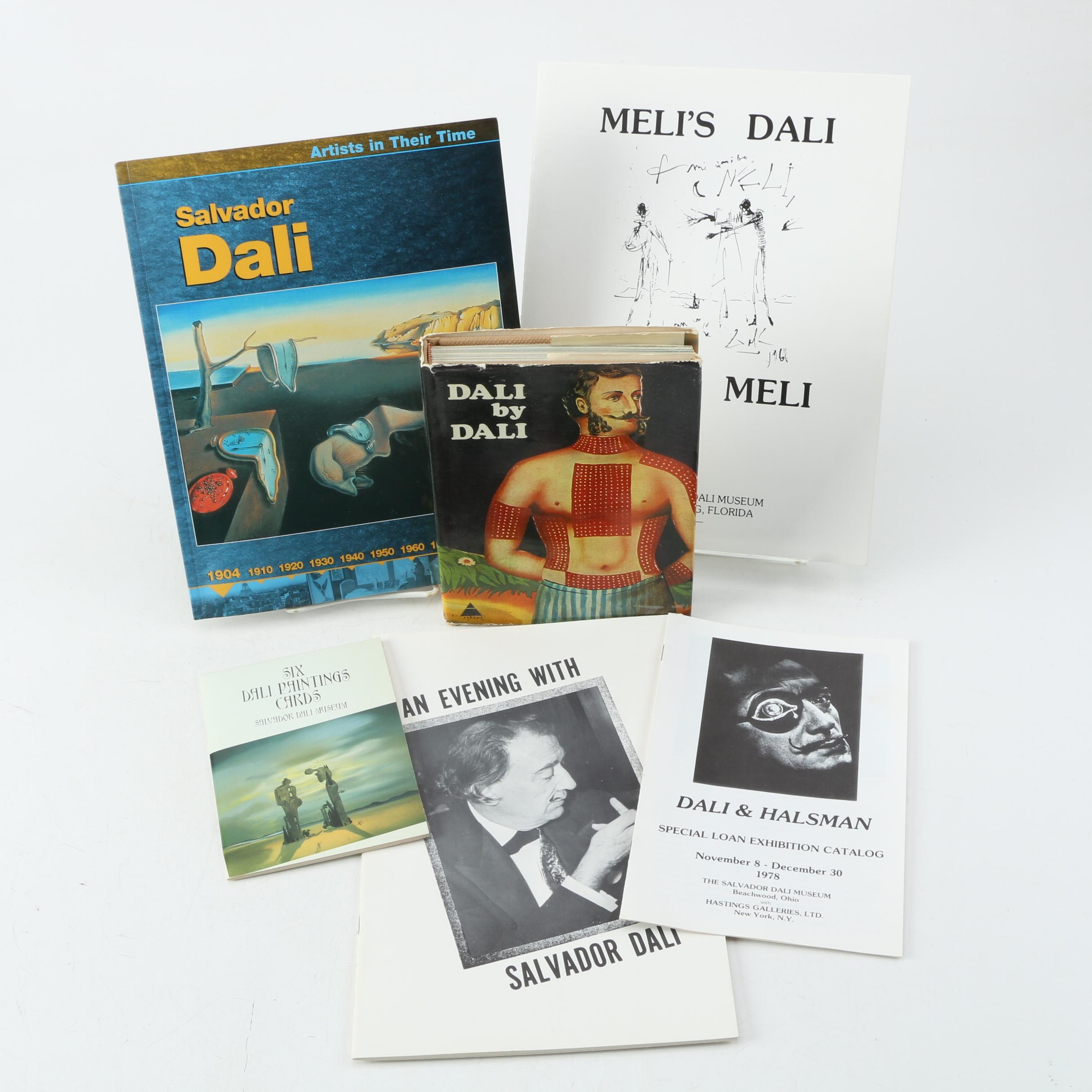 "1970 ""Dali by Dali"" and Other Books on Salvador Dali"
