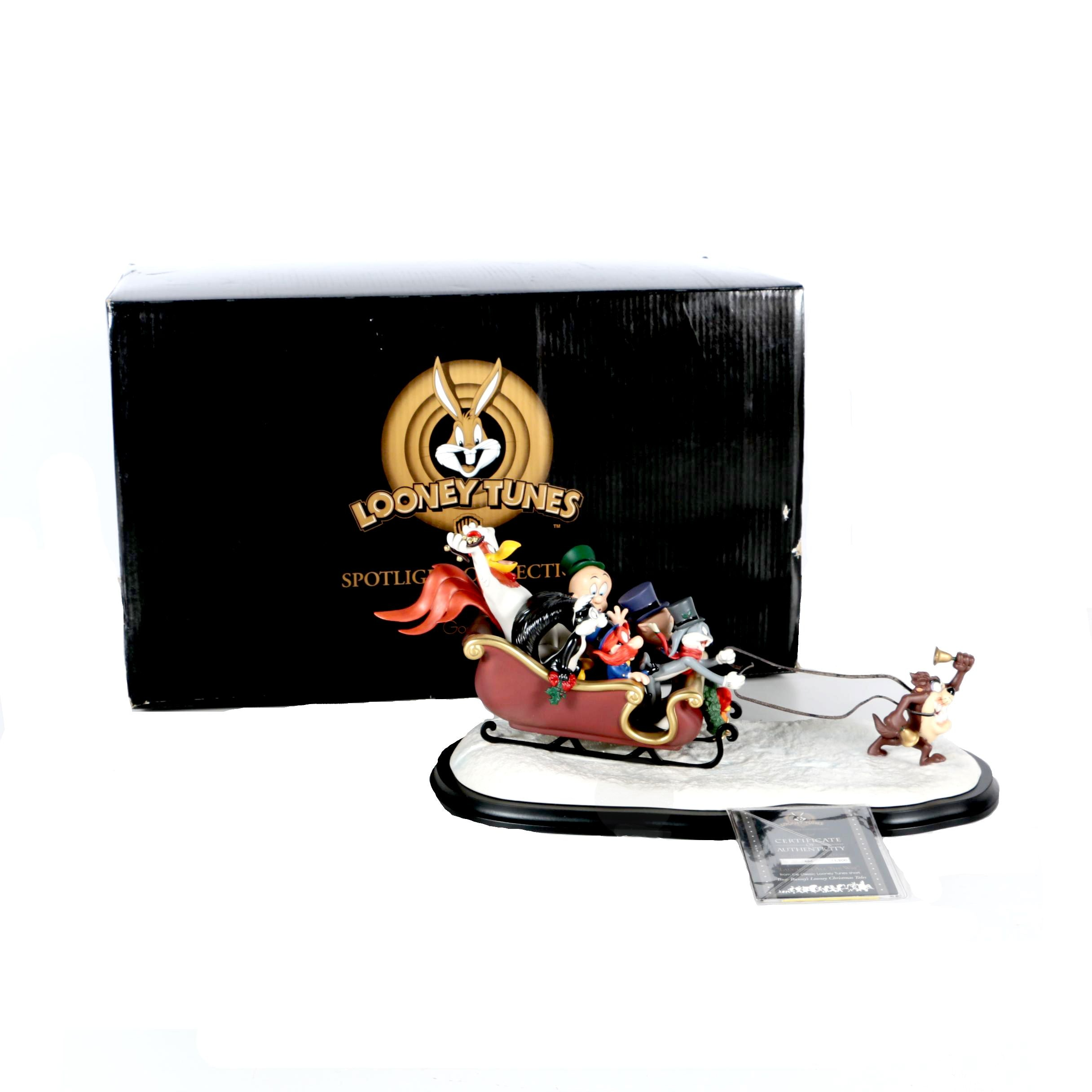 """Looney Tunes """"Laughing All The Way"""" Limited Edition Christmas Tales Figurine"""