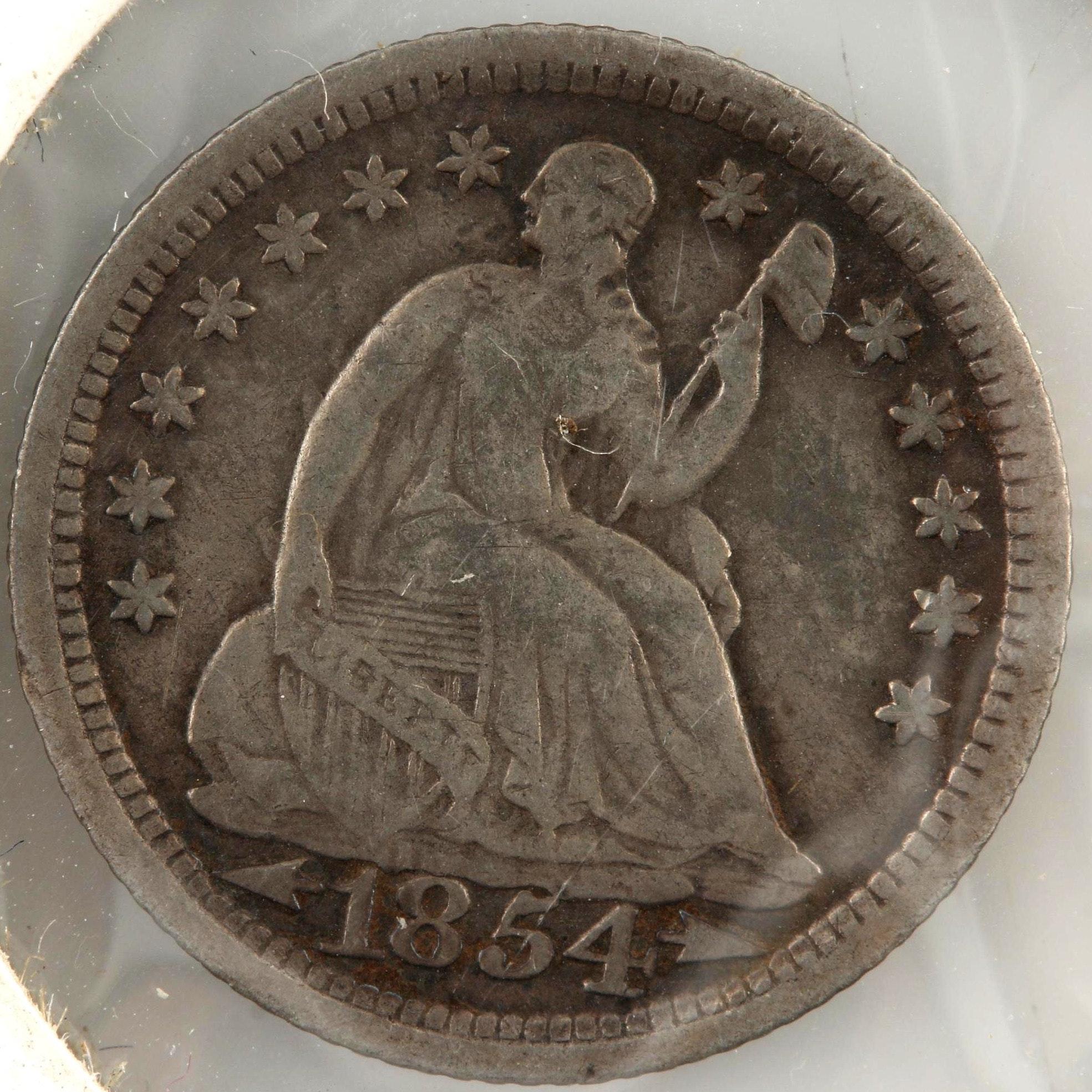 1854 Seated Liberty Silver Half Dime