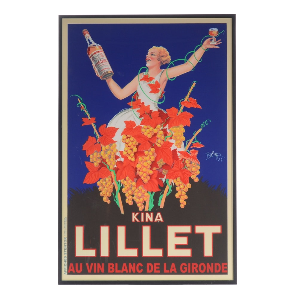 Offset Lithograph Poster After a Kina Lillet Aperitif Advertisement