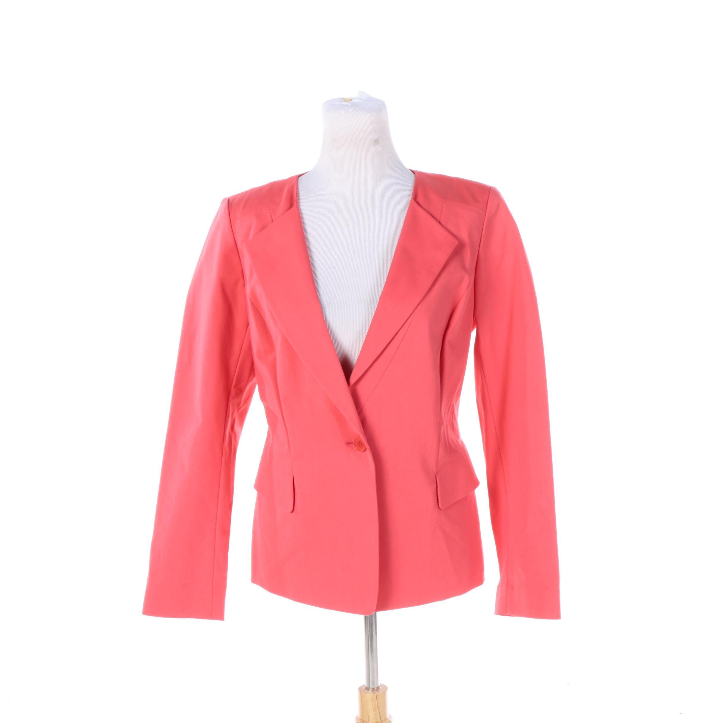 Women's Lafayette 148 New York Collarless Lapel Jacket