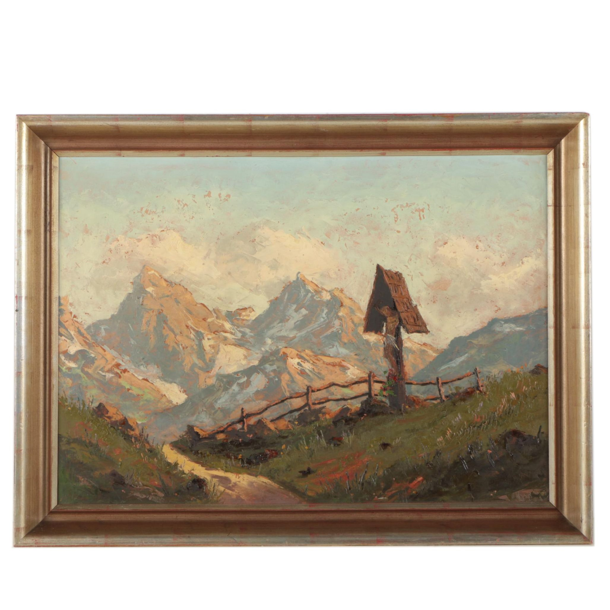 Oil Painting of Mountain Landscape