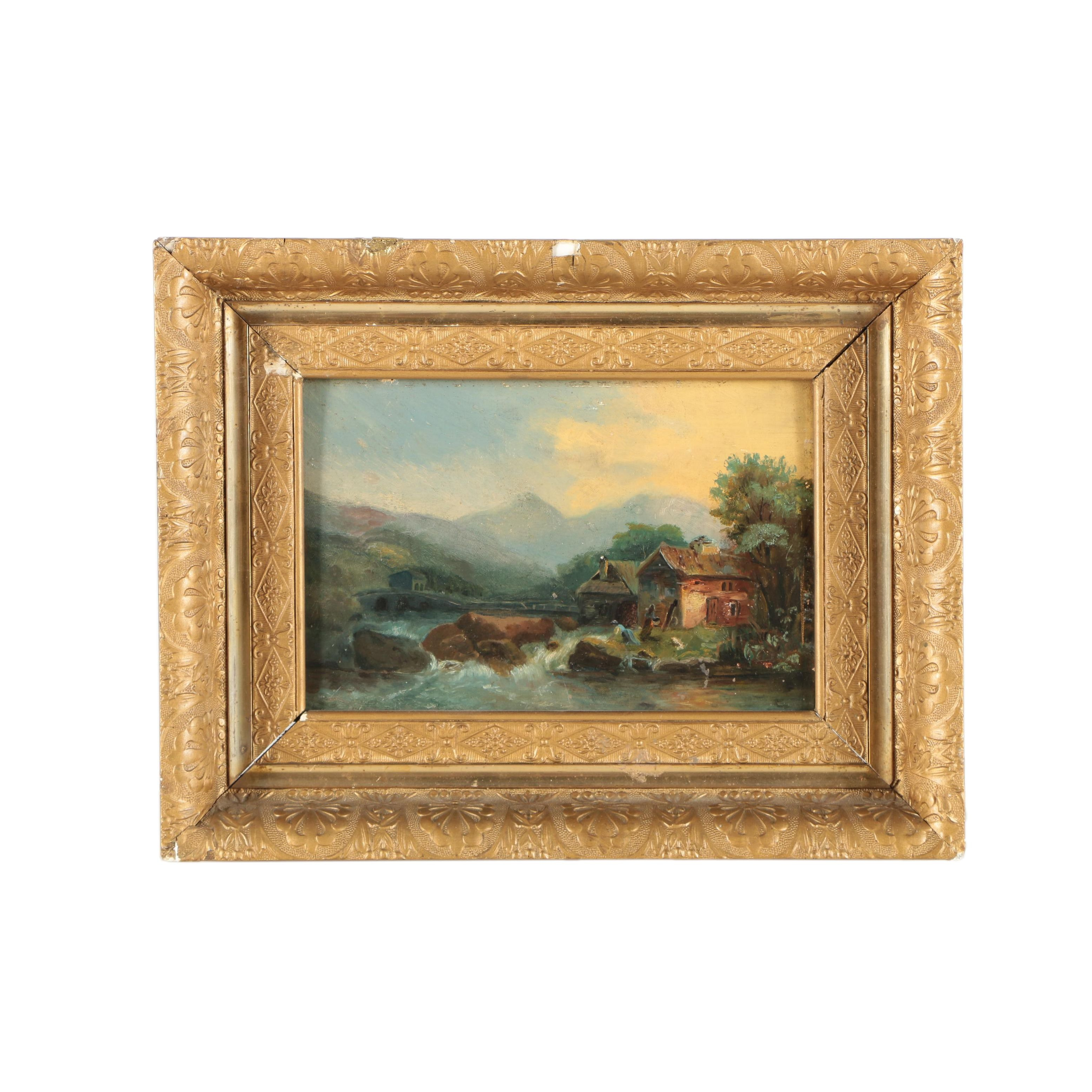 Oil Painting of Rustic Landscape