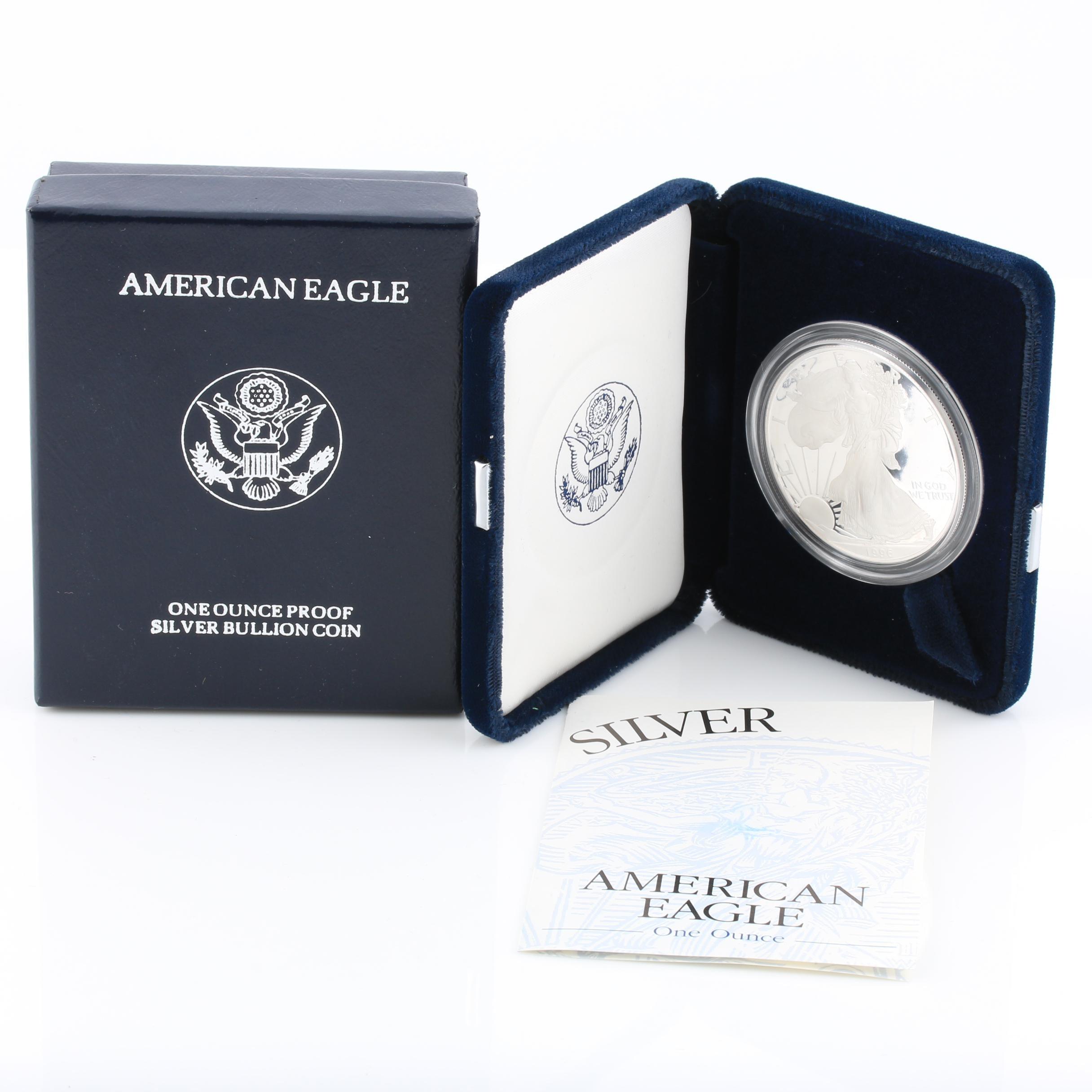1996-P Walking Liberty Silver Eagle Proof Bullion Coin