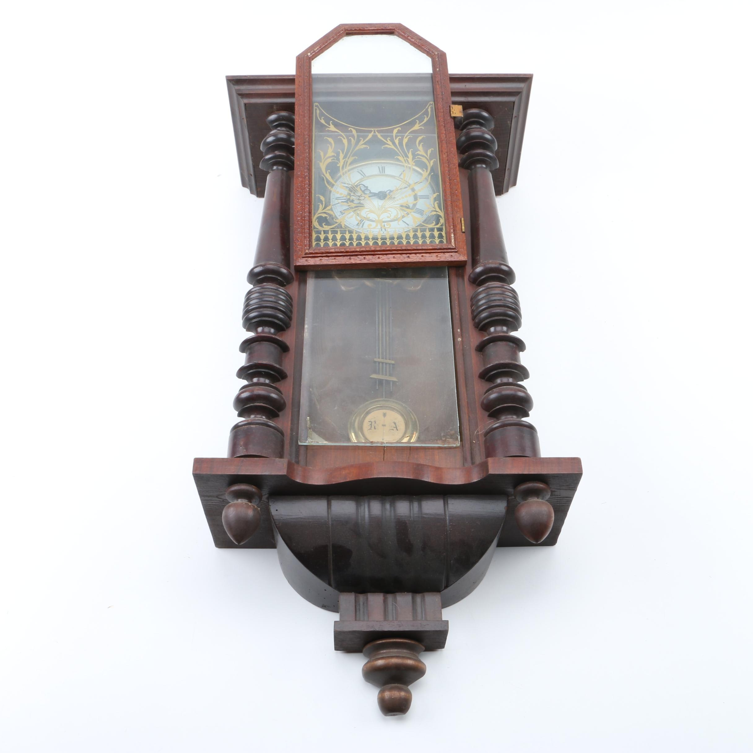 Junghans Wooden Vienna Style Regulator  Wall Clock