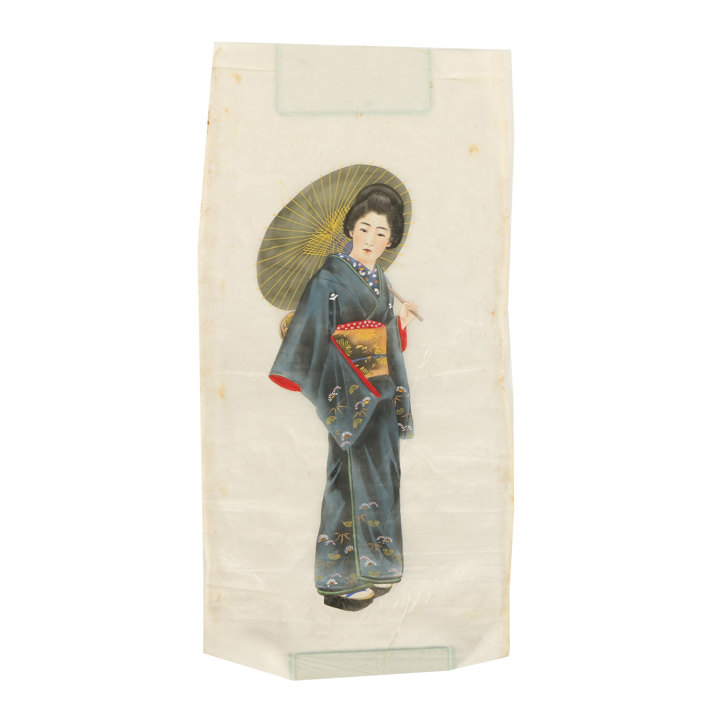 Japanese Gouache Painting of a Female Figure