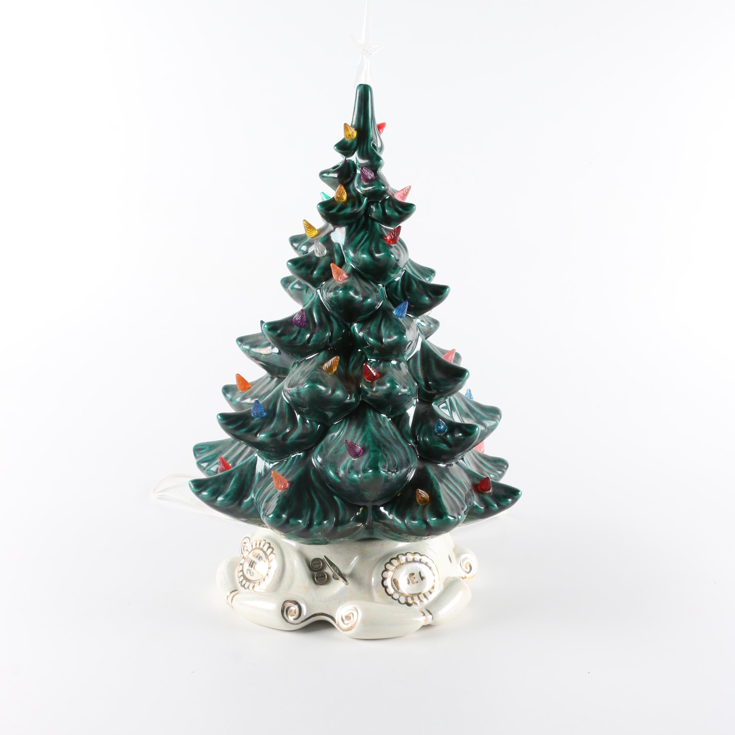 Vintage Musical Christmas Tree Light