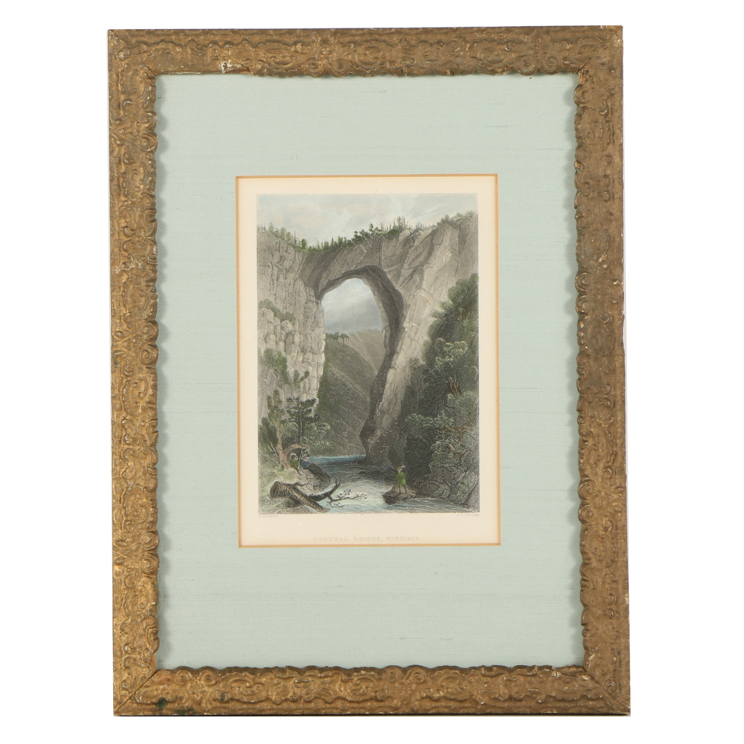 "Engraving after W.H. Bartlett ""Natural Bridge, Virginia"""