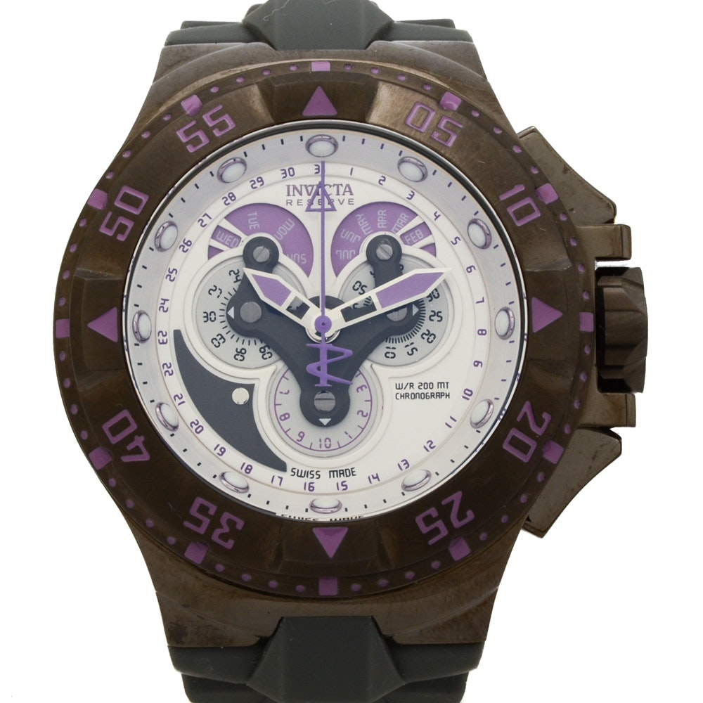 """Invicta """"Excursion"""" Chronograph With Purple-Accented Dial"""