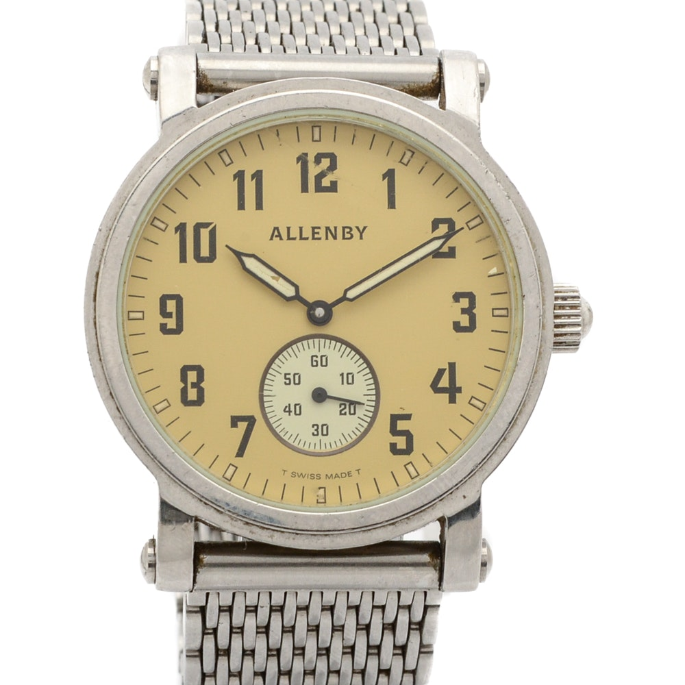 Silver Tone Allenby Outfitter's Wristwatch