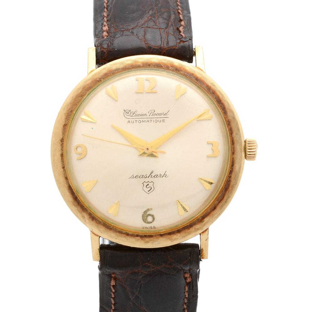 """Vintage Lucien Piccard """"Seashark"""" Automatic Wristwatch"""