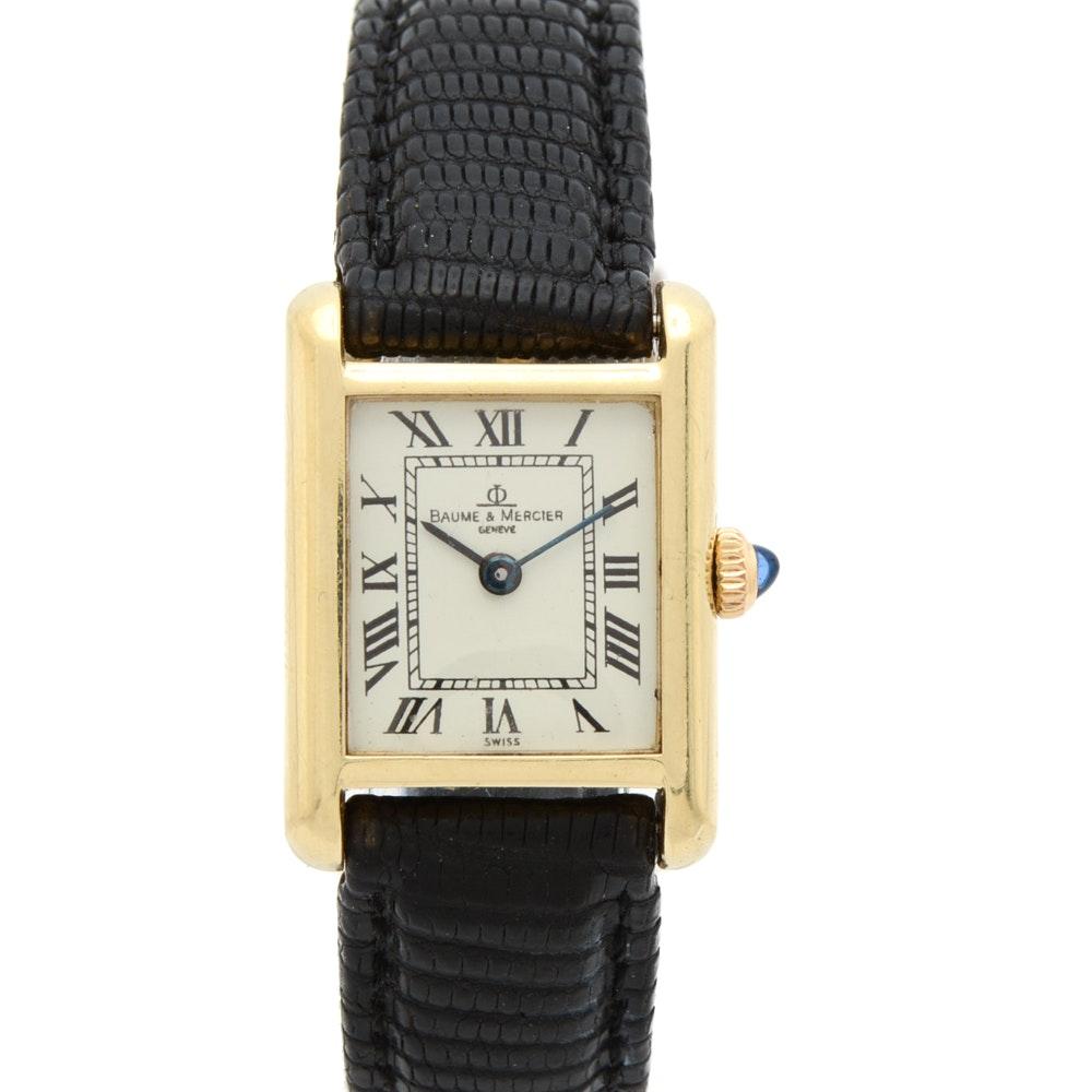 14K Gold Baume & Mercier Classic Tank Style Watch