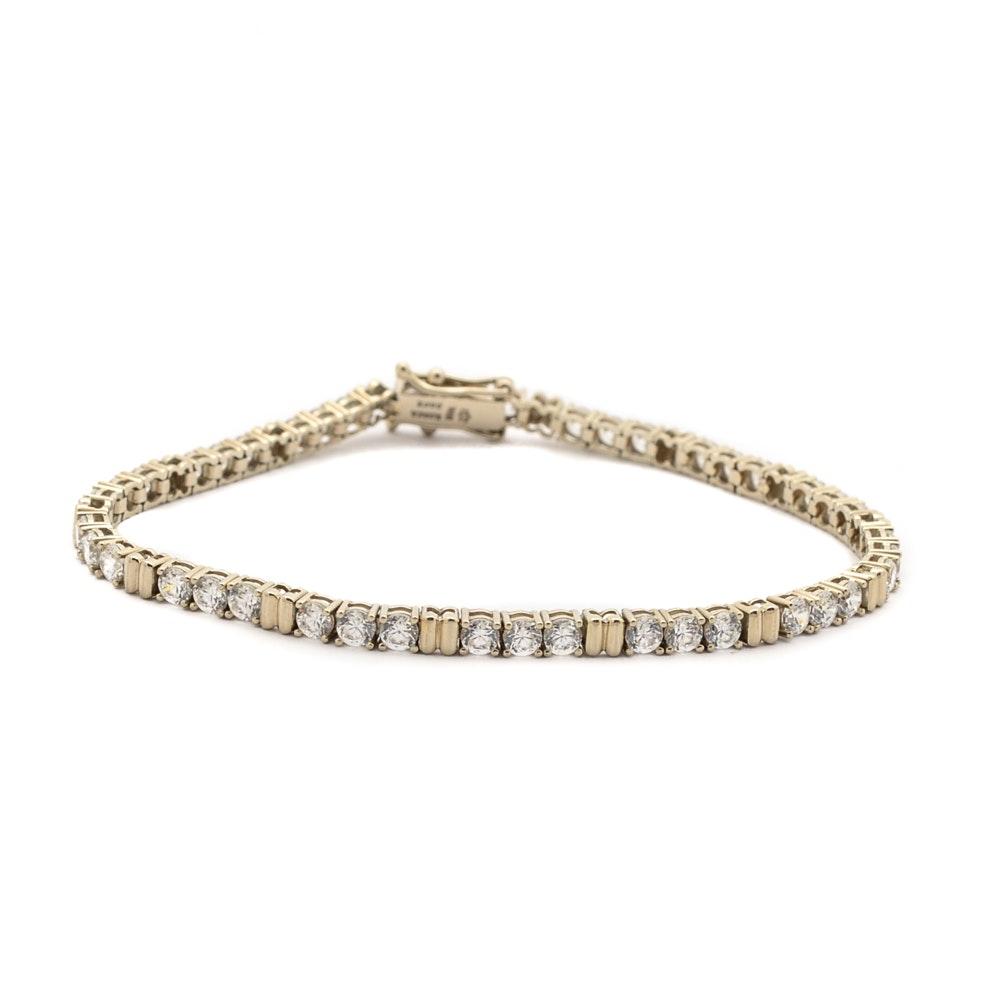 14K Yellow Gold Diamonique® Cubic Zirconia Tennis Bracelet