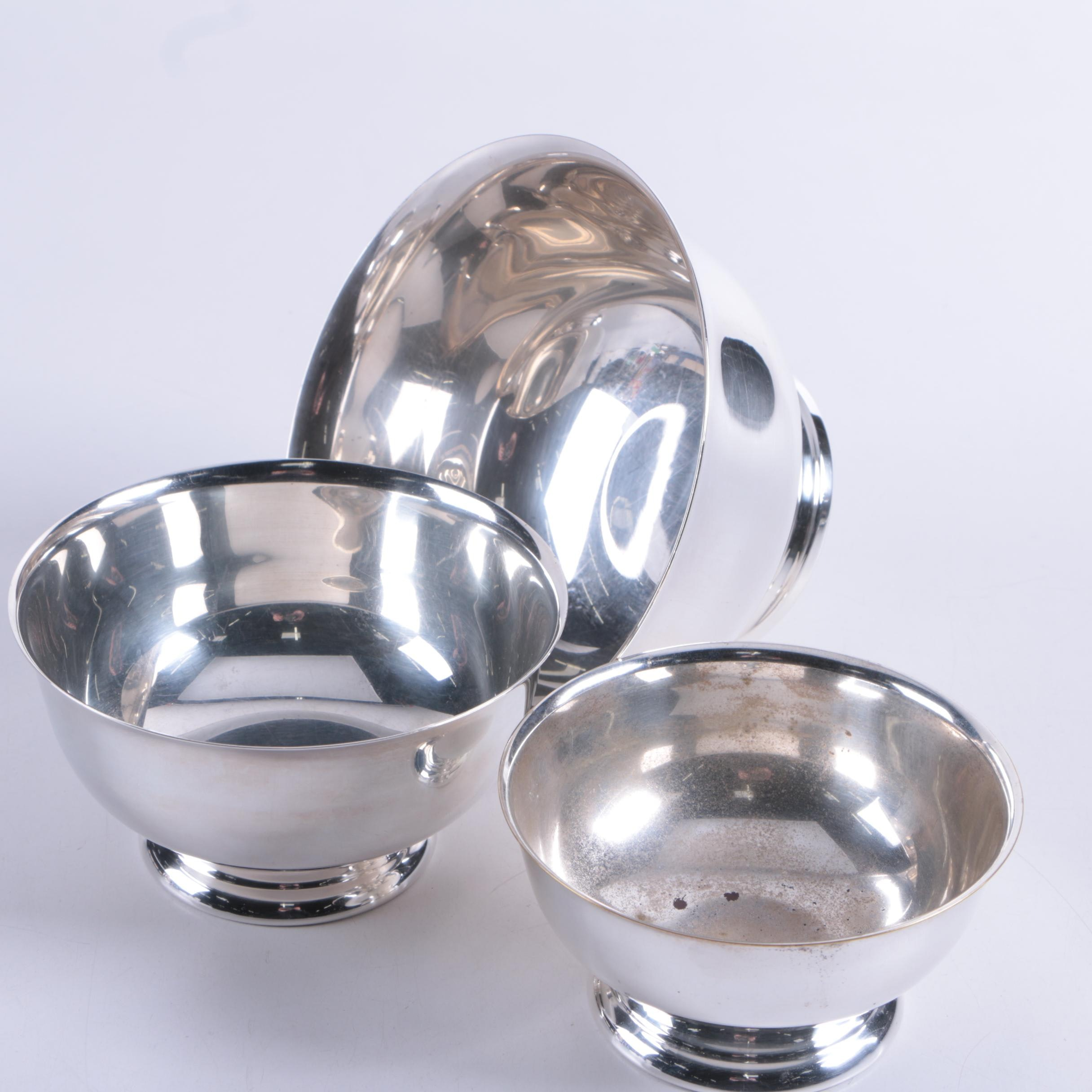 Sheridan Paul Revere Style Silver Plate Bowls