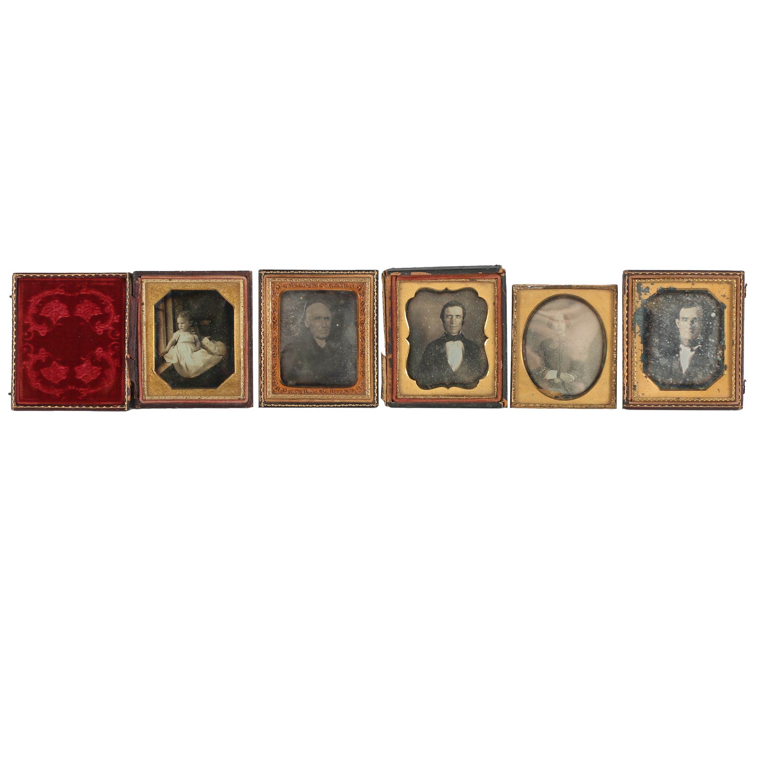 Antique Ambrotype Portraits in Leather Cases