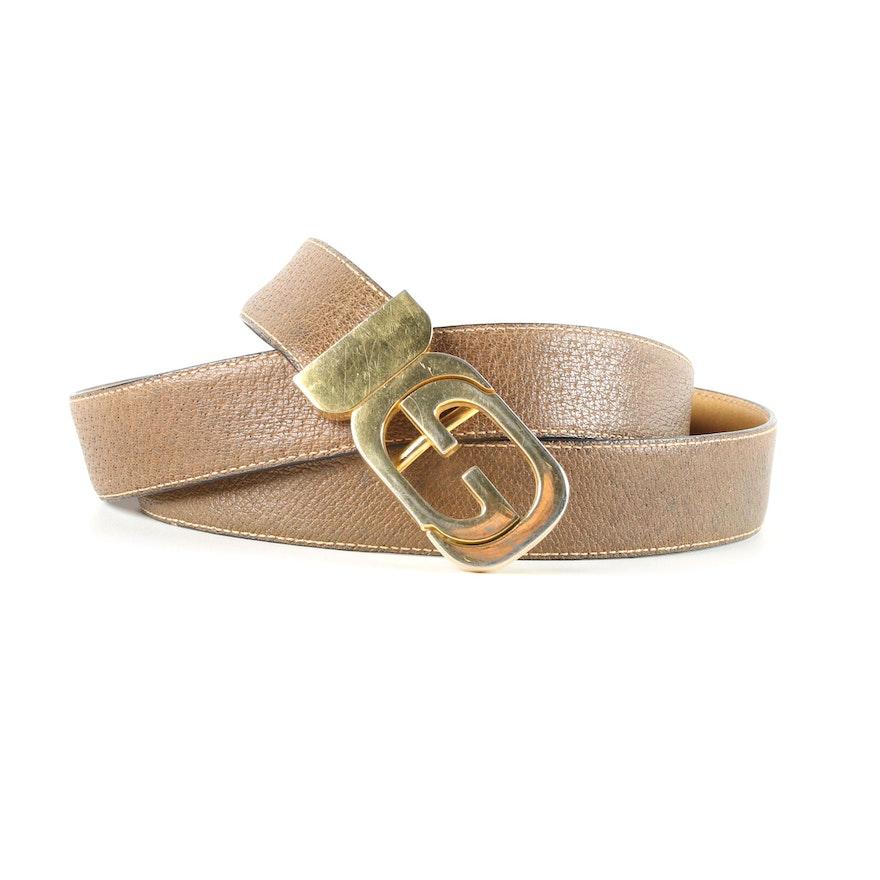 90b4a10843d Vintage Gucci Brown Leather Belt   EBTH