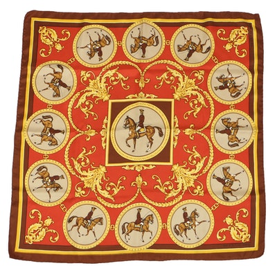 "Echo Silk Equestrian ""Spirit of '76"" Scarf"