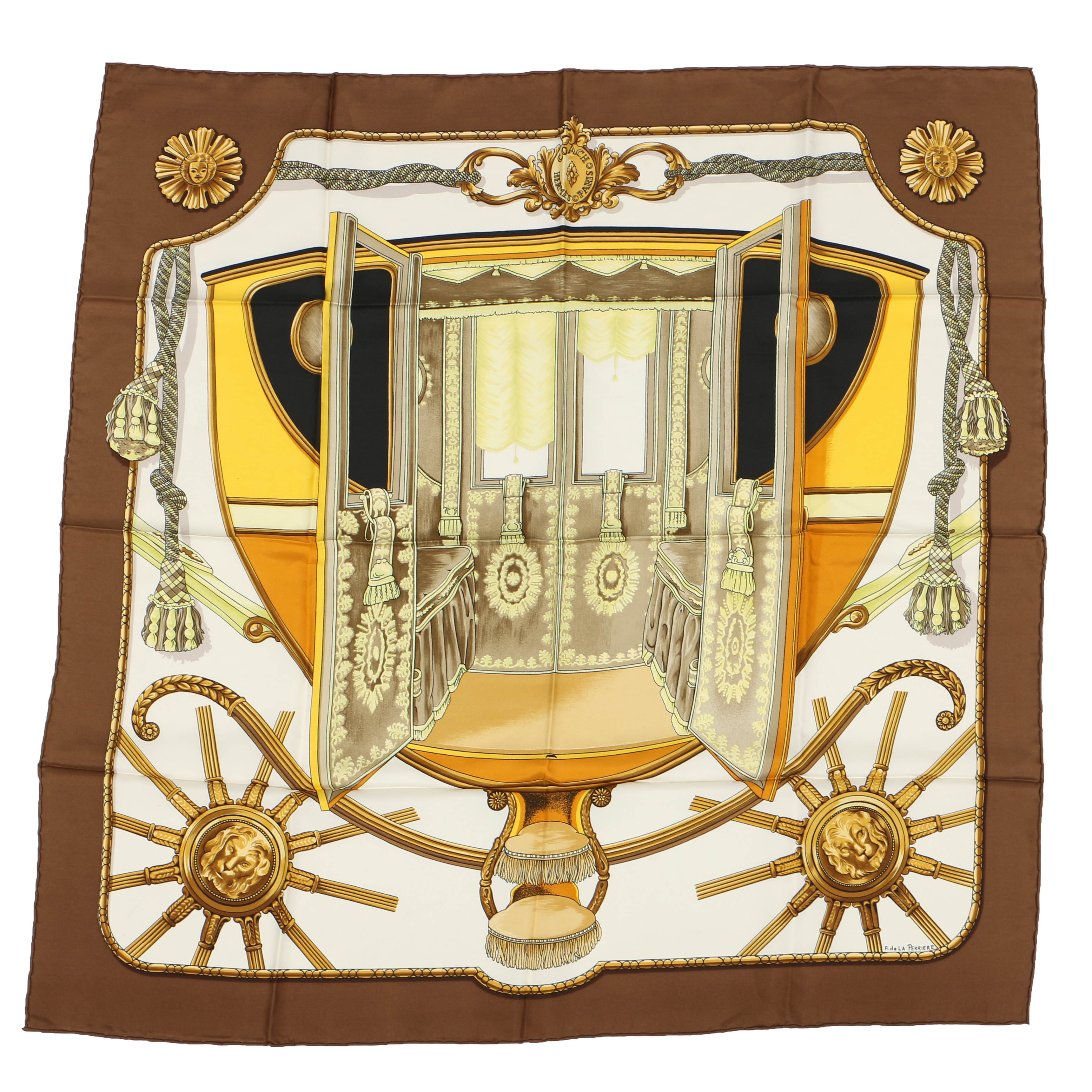 "Hermès Silk Twill ""Coach"" Scarf Edition 1960"