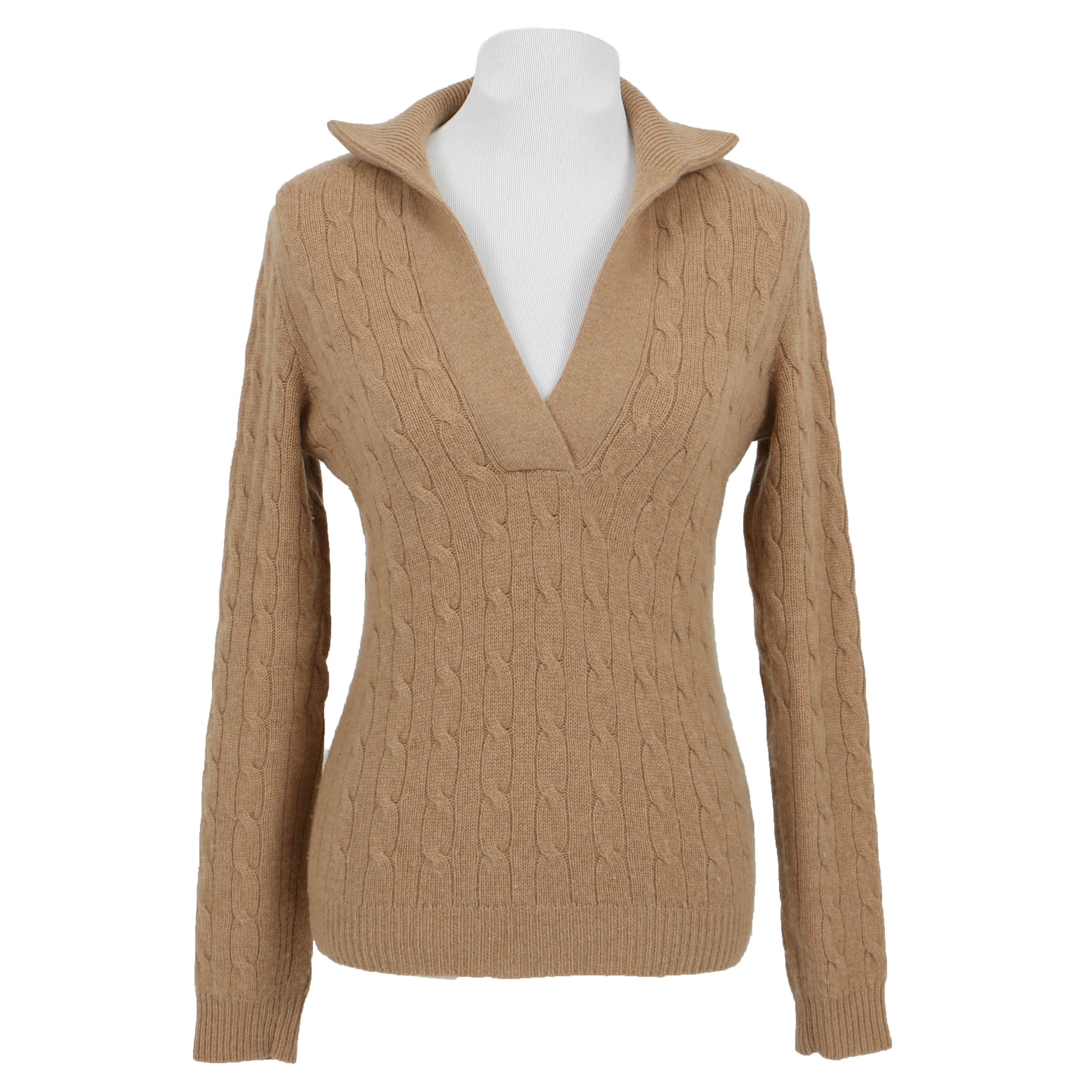 Womans Ralph Lauren Black label Cashmere Cable Knit Sweater