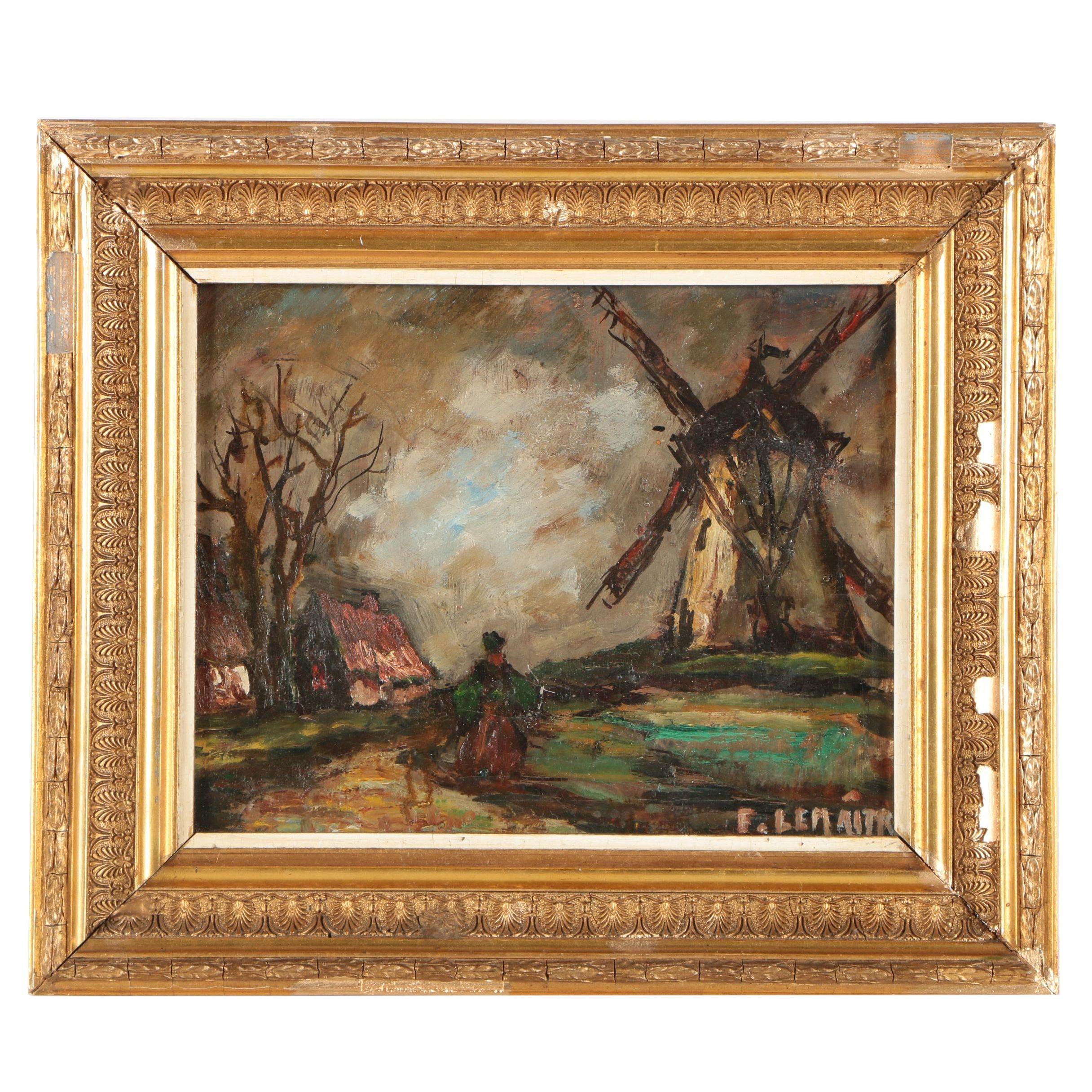 F. Lemaitre Oil Painting
