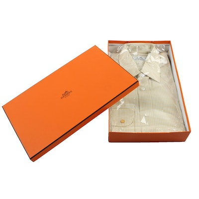 Hermès Yellow Dress Shirt, New in Box, Made in France