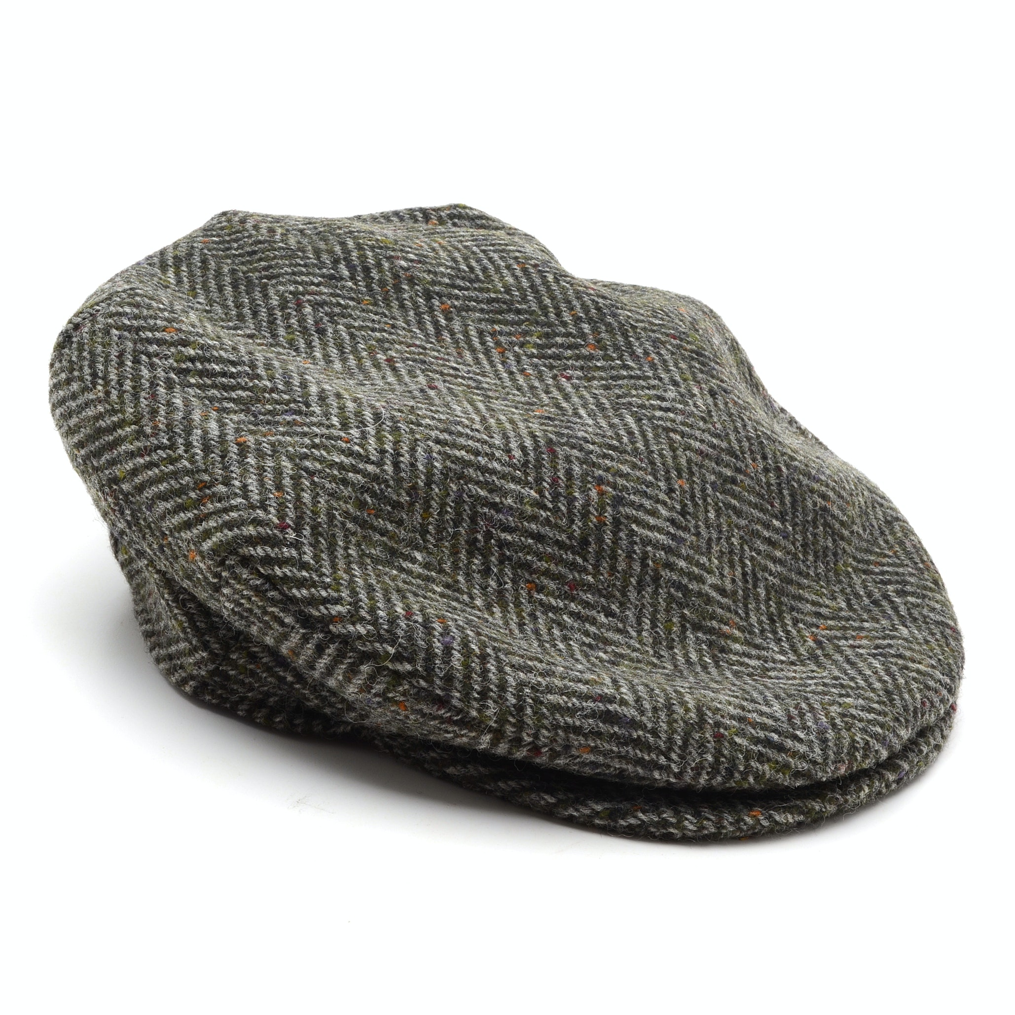 Gray Tweed Donegal Touring Cap by Hanna Hats, Handcrafted in Ireland
