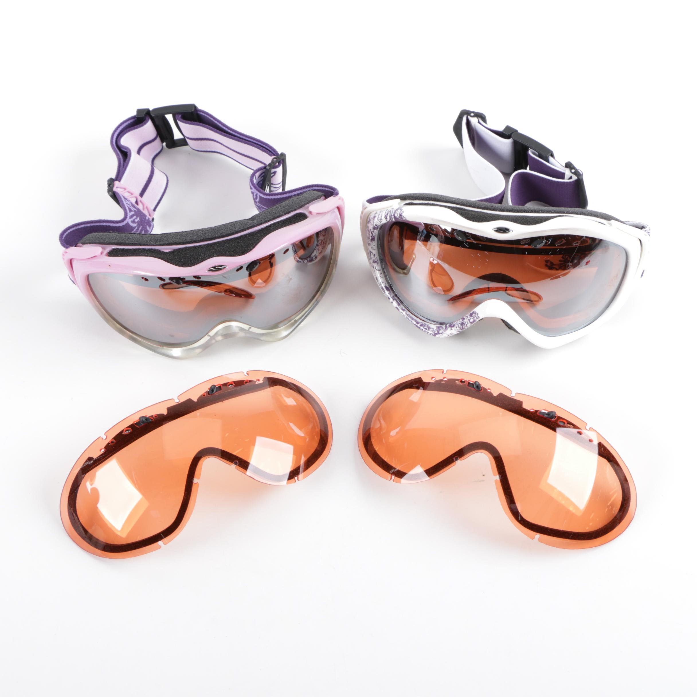 Women's Ski Goggles and Replacement Lenses