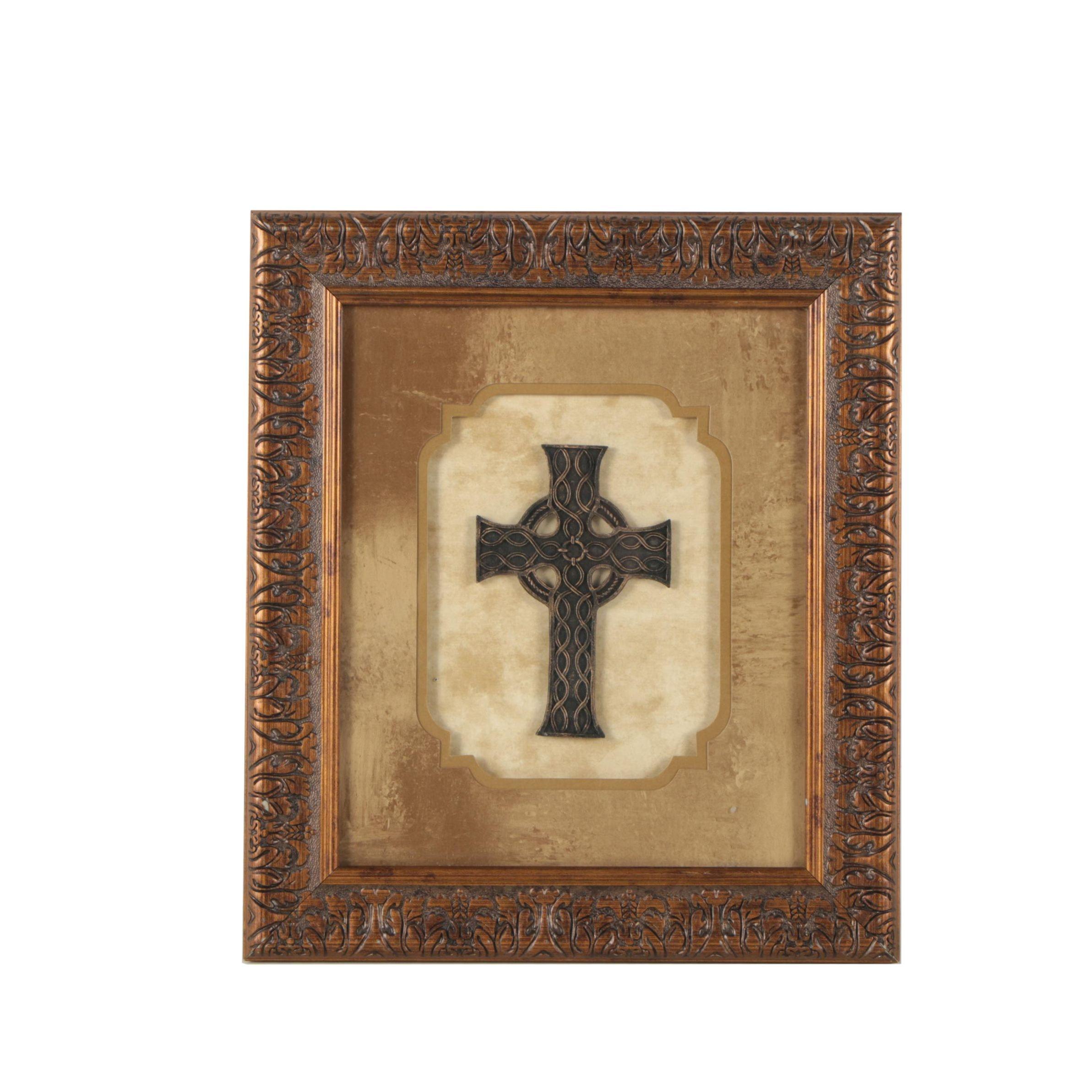 Framed Celtic Style Cross