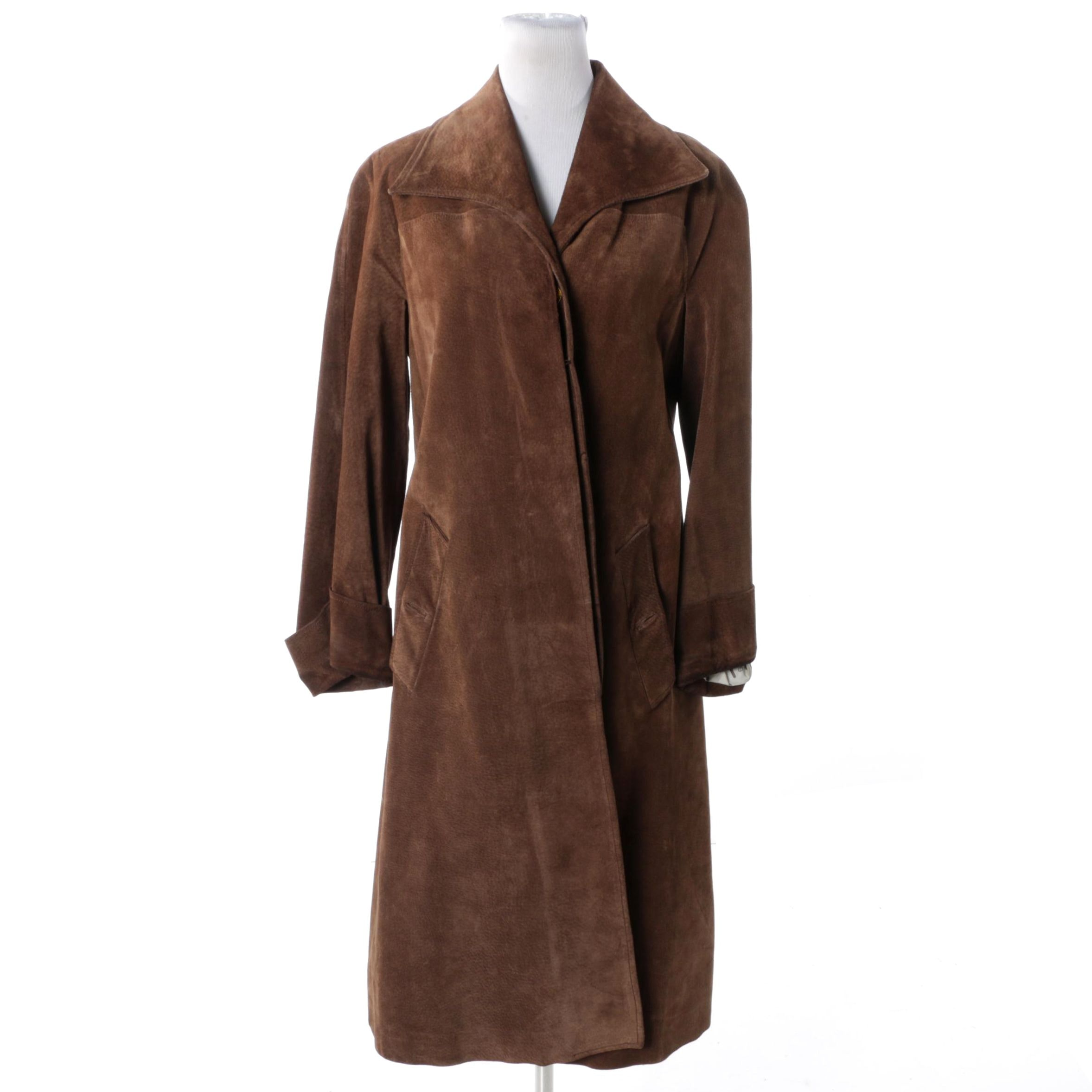 Women's Circa 1970s Gucci Brown Suede Coat