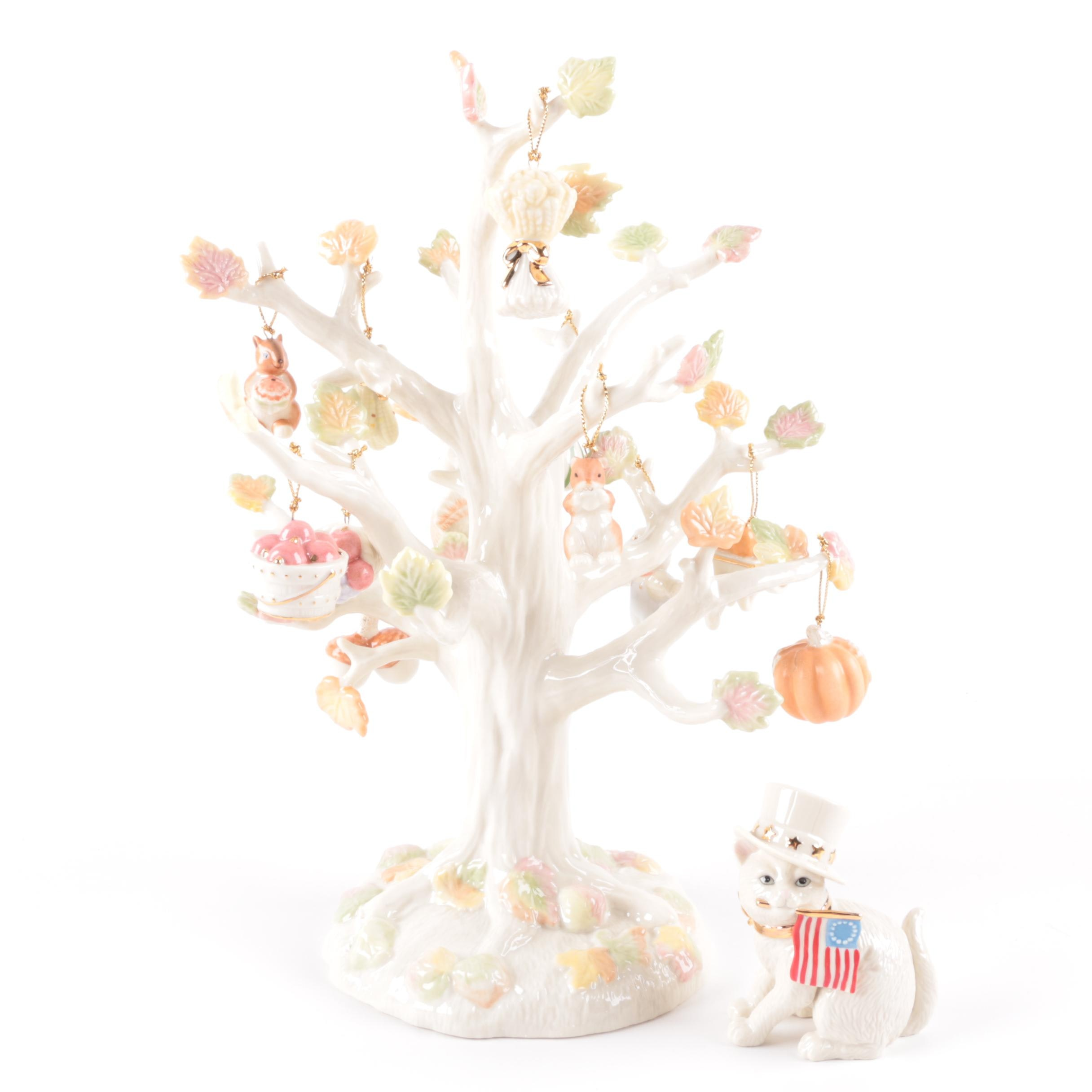 "Lenox ""Autumn Delights Tree"" with Ornaments and More"