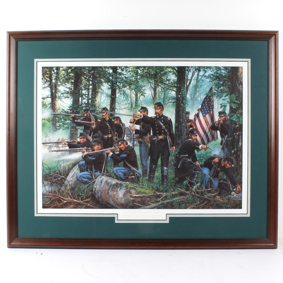 """John Paul Strain Limited Edition Offset Lithograph """"Little Round Top"""""""
