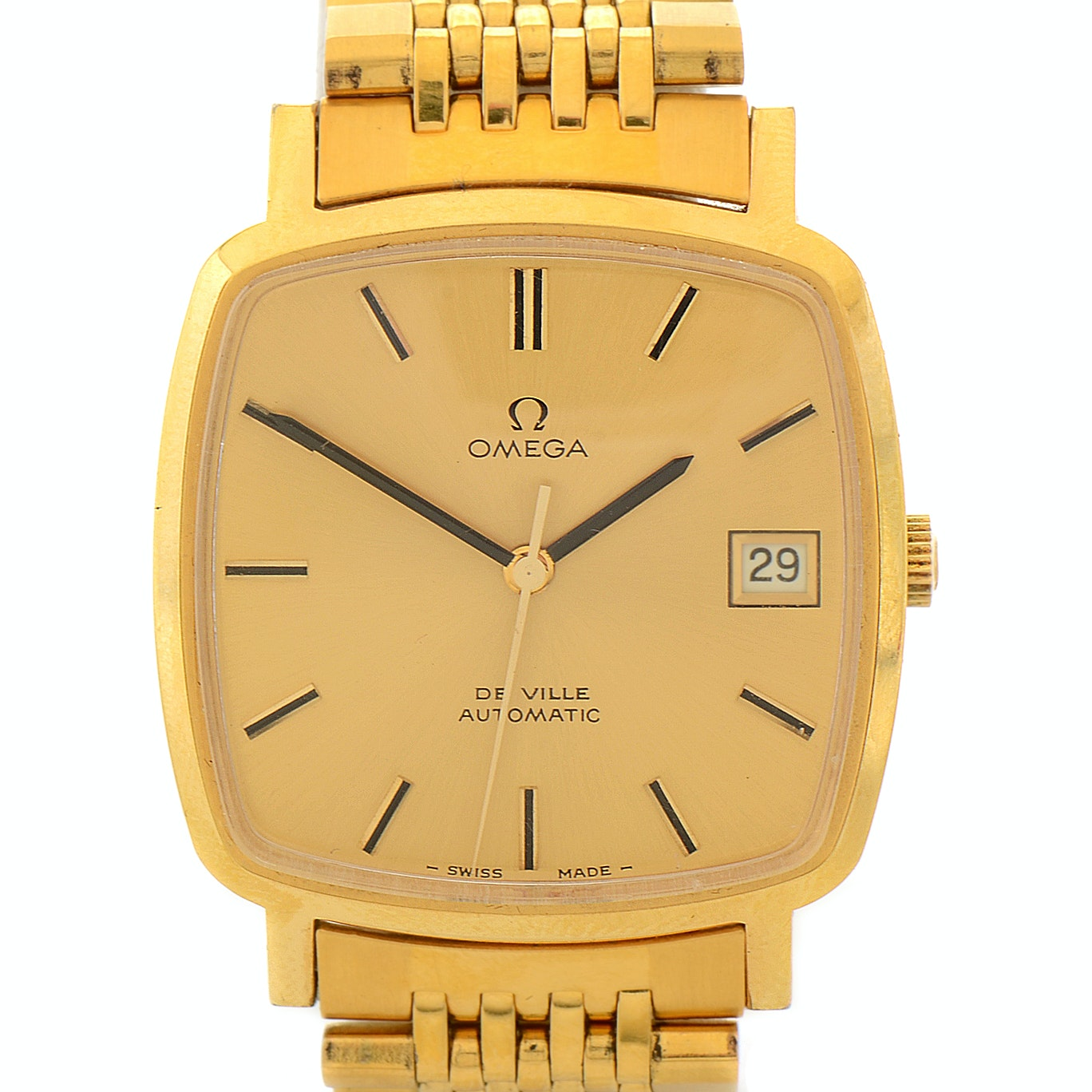Omega De Ville Automatic Gold-Plated Stainless Steel Wristwatch