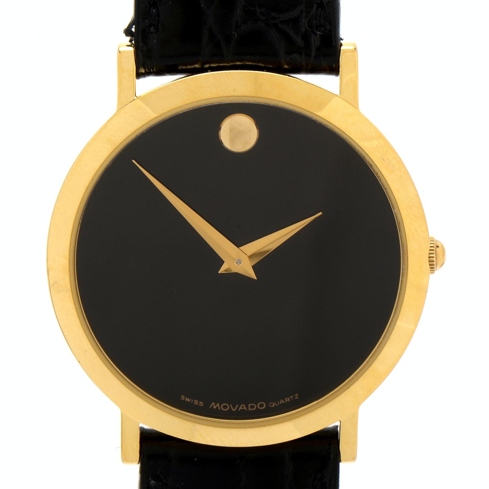 Movado Museum Swiss Made Quartz Gold-Tone Wristwatch