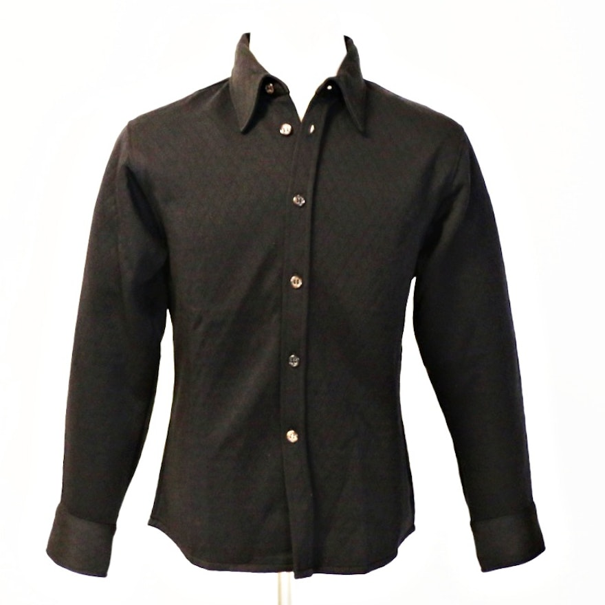 Vintage Rykiel Homme Mens Polyester Quilted Shirt