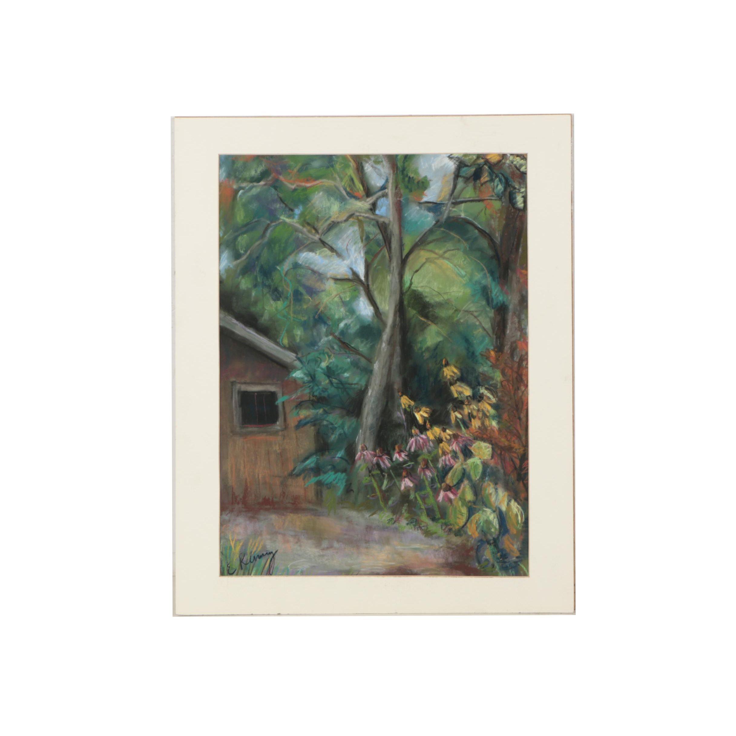 "Elizabeth Kenney Pastel Drawing ""Lockerbie Alley"""