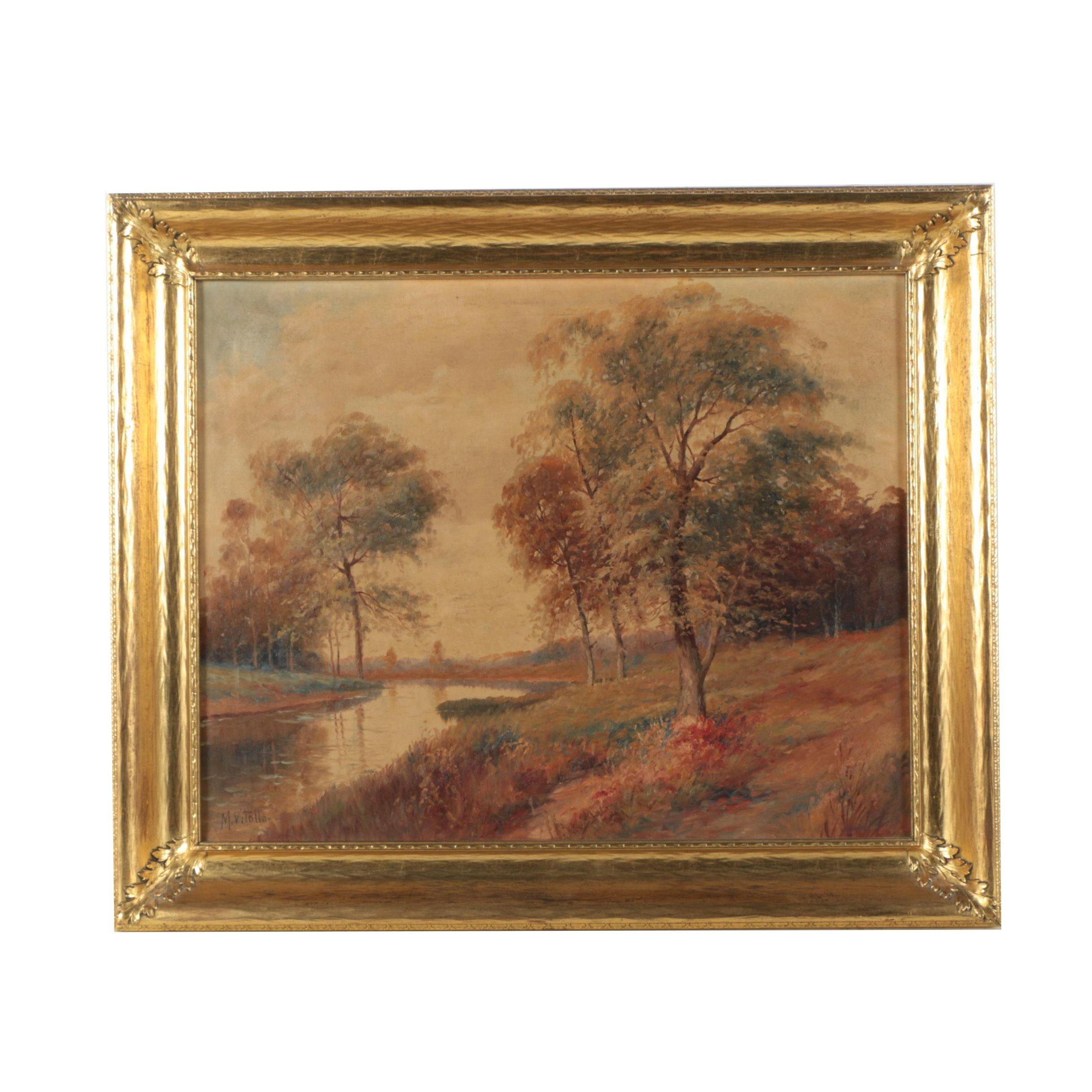 M. Vitollo Oil Painting