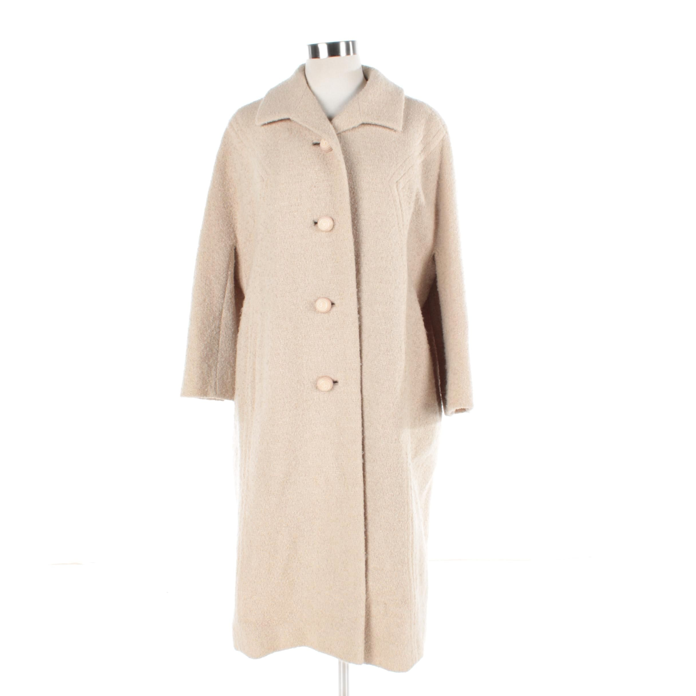 Women's Vintage Tan Wool Coat